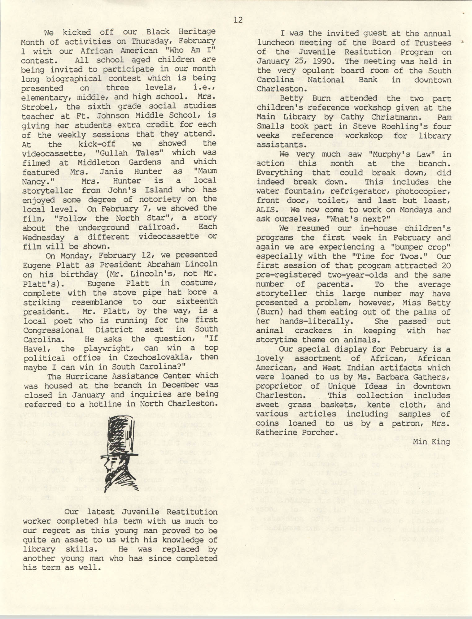The Lion's Roar, February 1990, Page 12