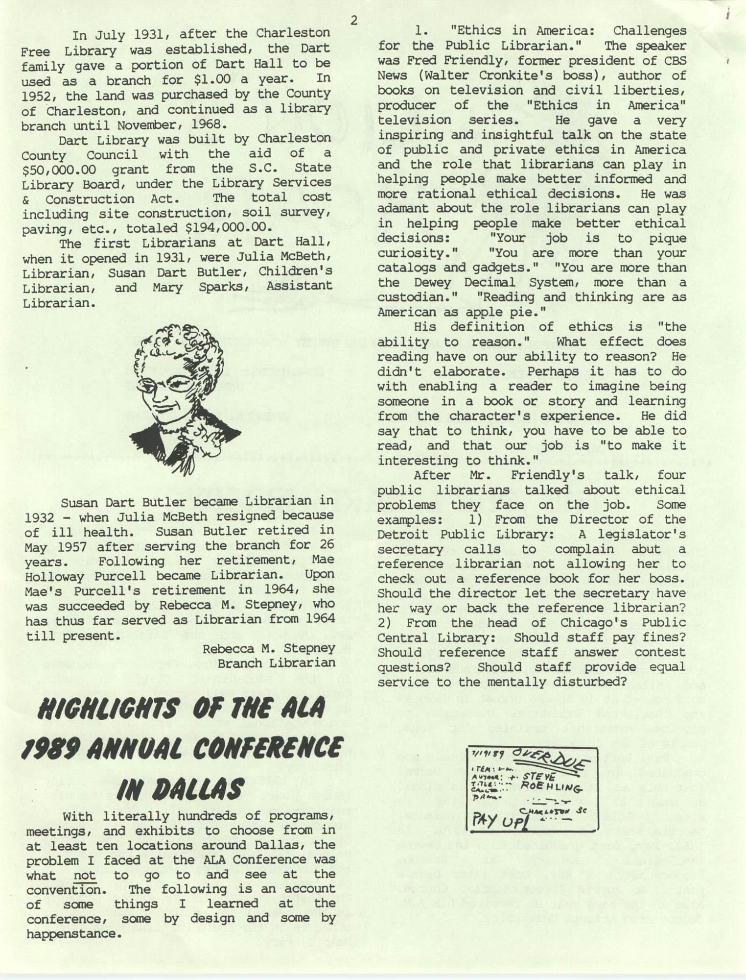 The Lion's Roar, July 1989, Page 2
