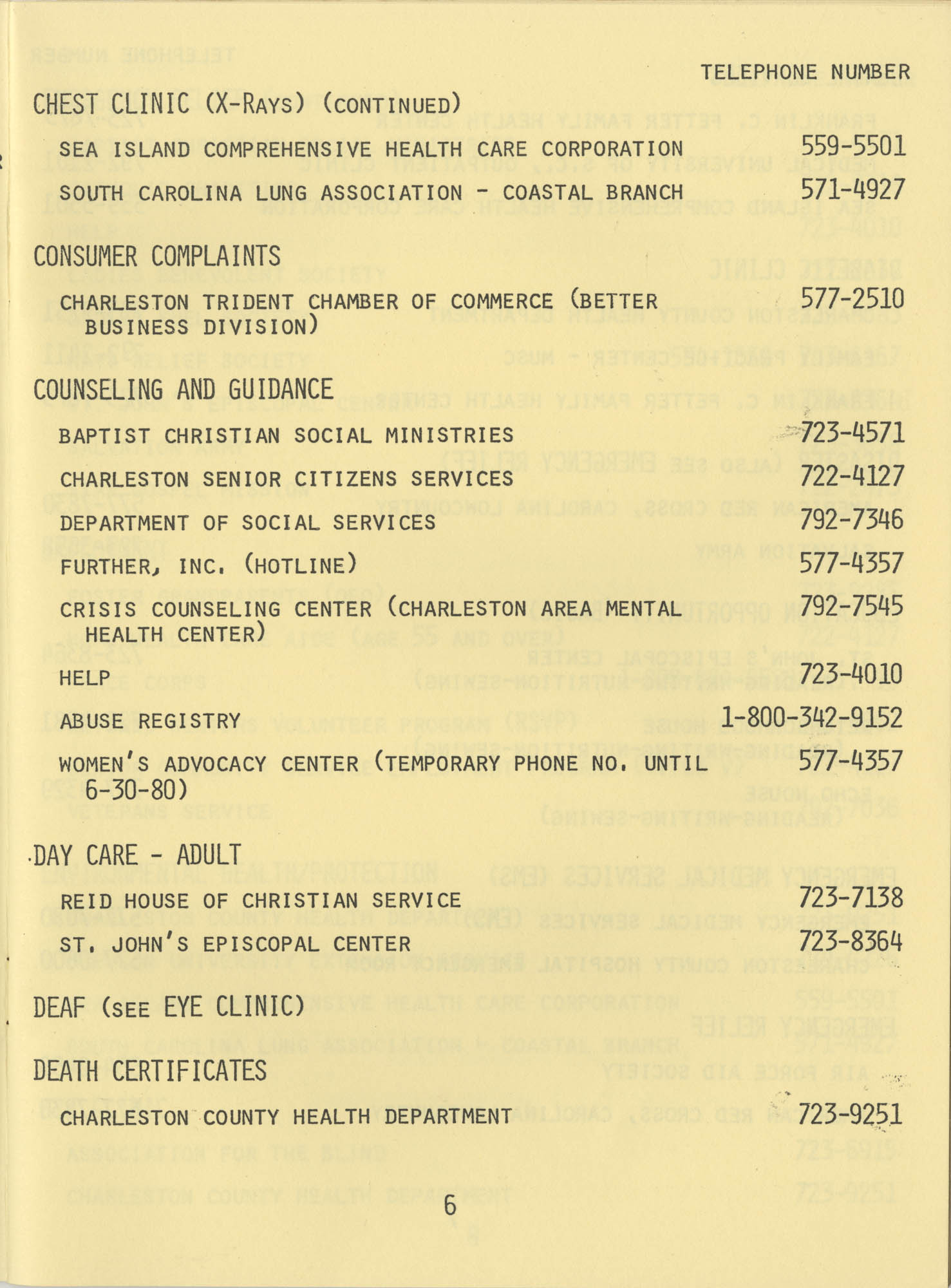 Telephone Line to Care for the Elderly, Page 6