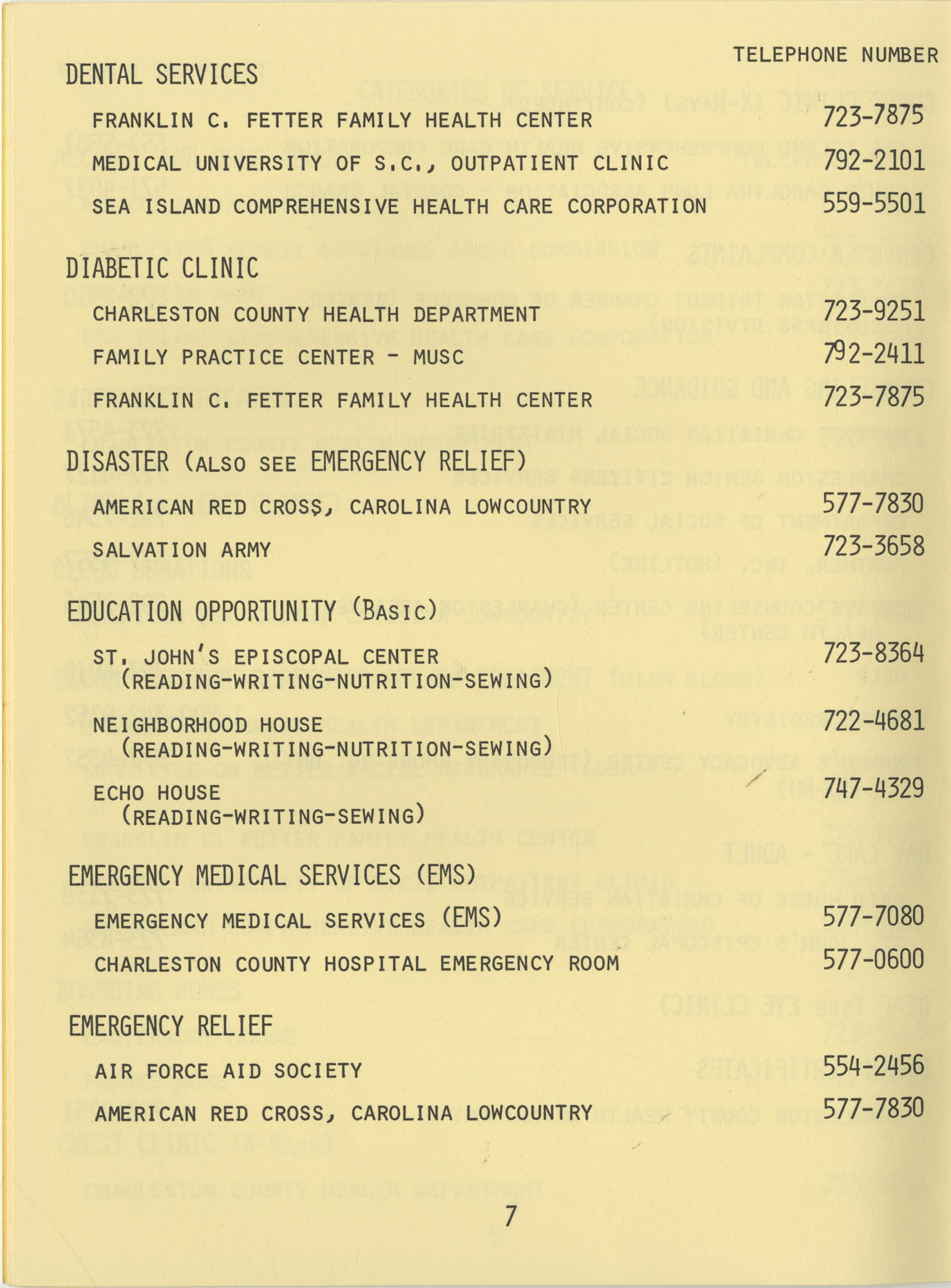 Telephone Line to Care for the Elderly, Page 7