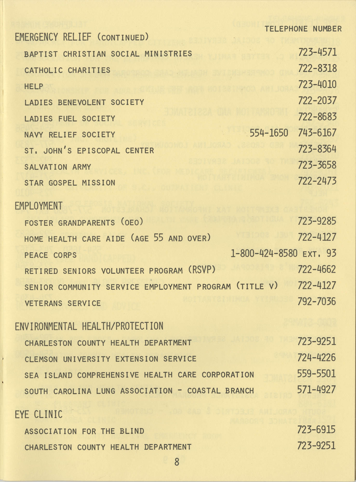 Telephone Line to Care for the Elderly, Page 8