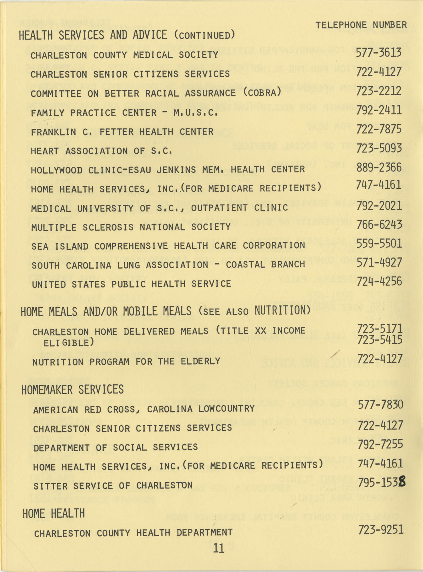 Telephone Line to Care for the Elderly, Page 11