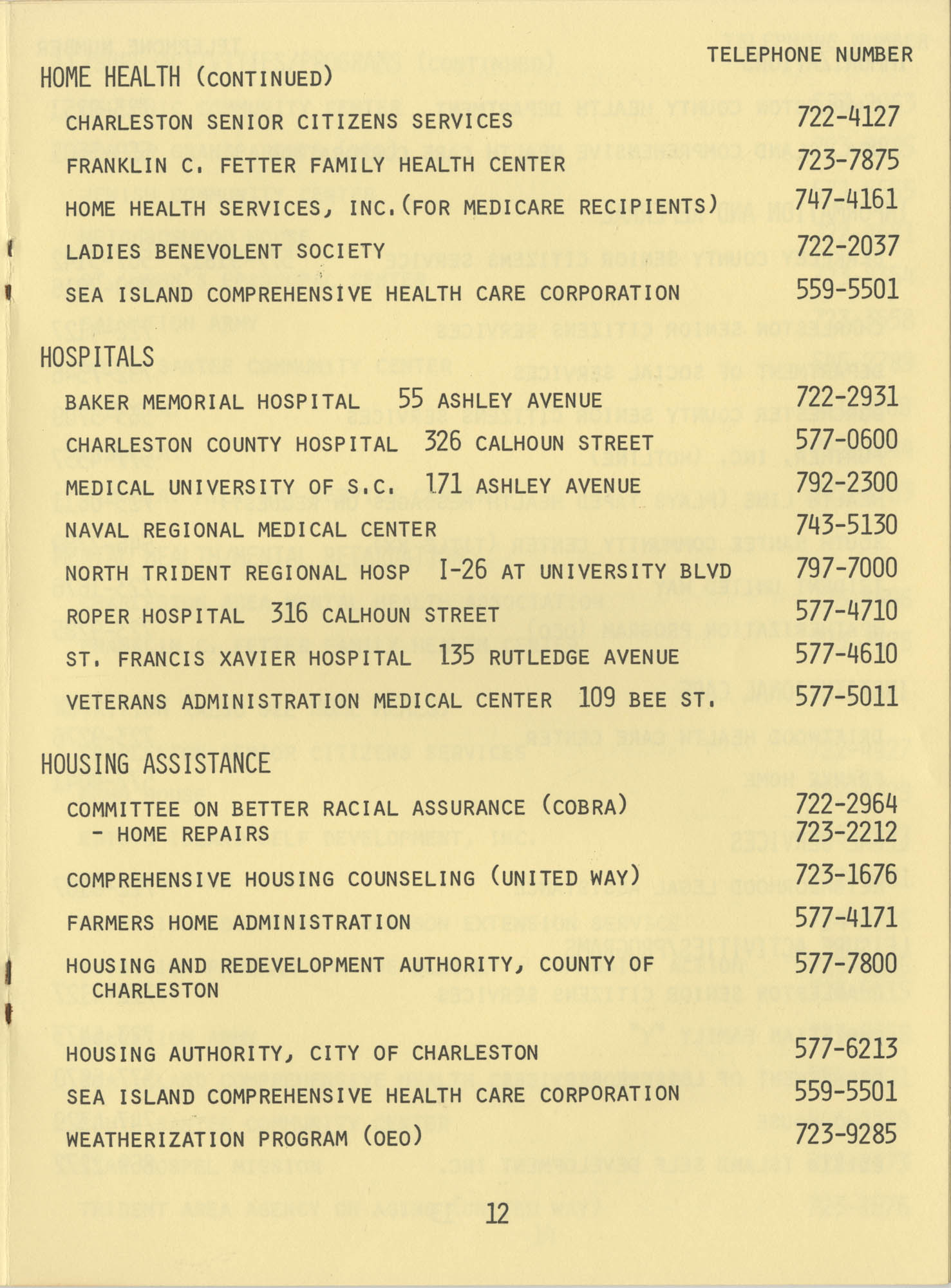 Telephone Line to Care for the Elderly, Page 12