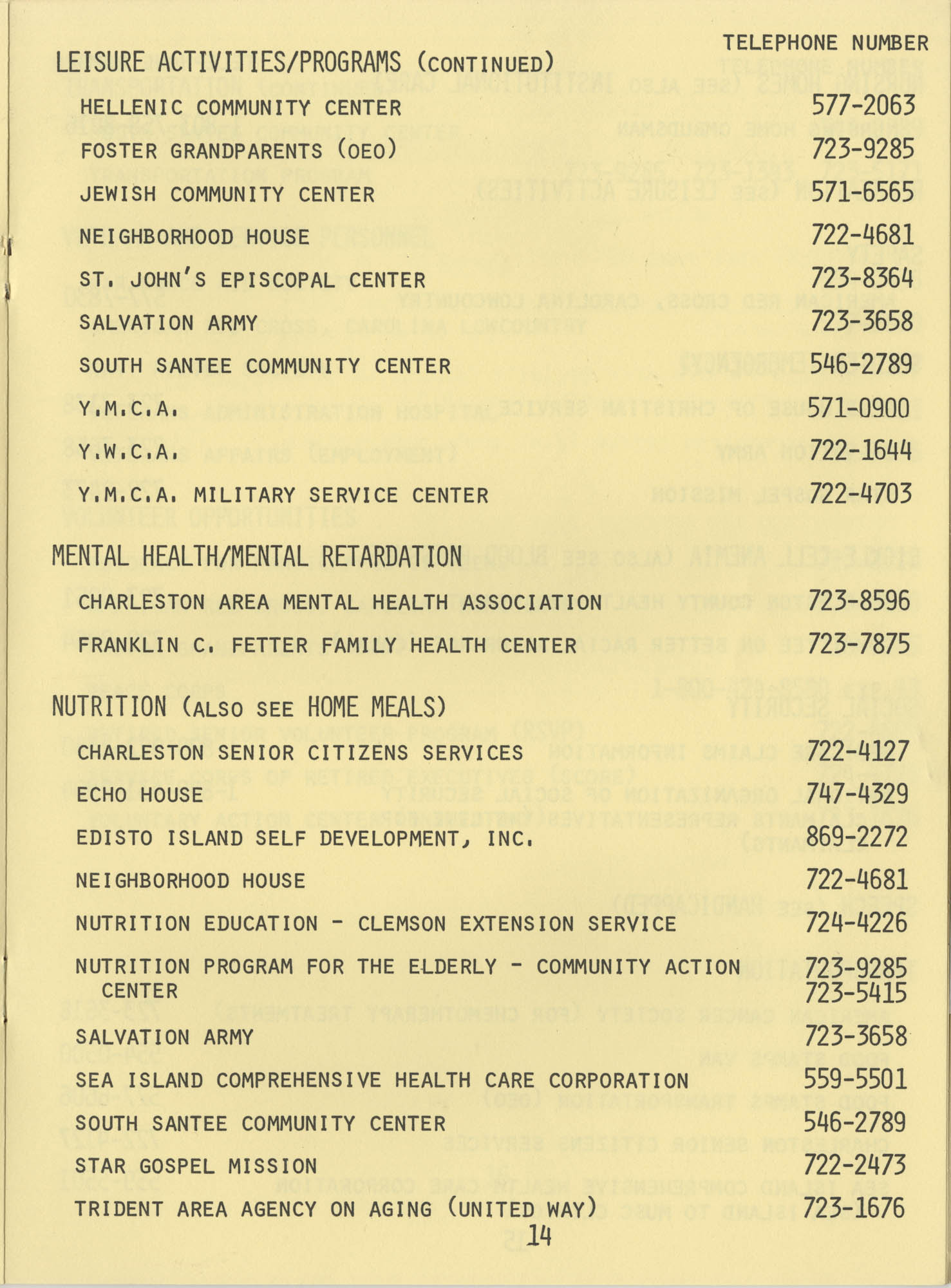 Telephone Line to Care for the Elderly, Page 14