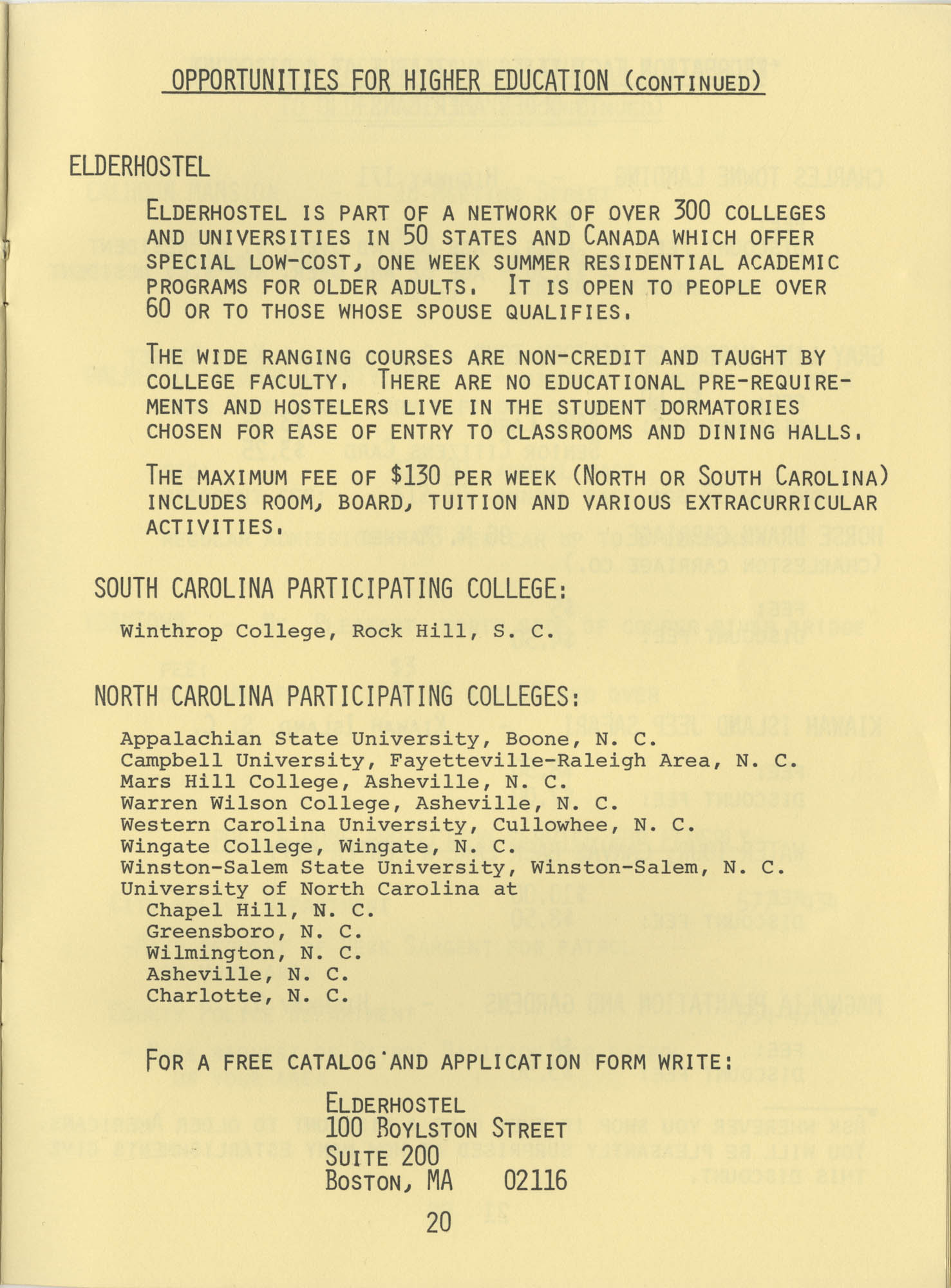 Telephone Line to Care for the Elderly, Page 20