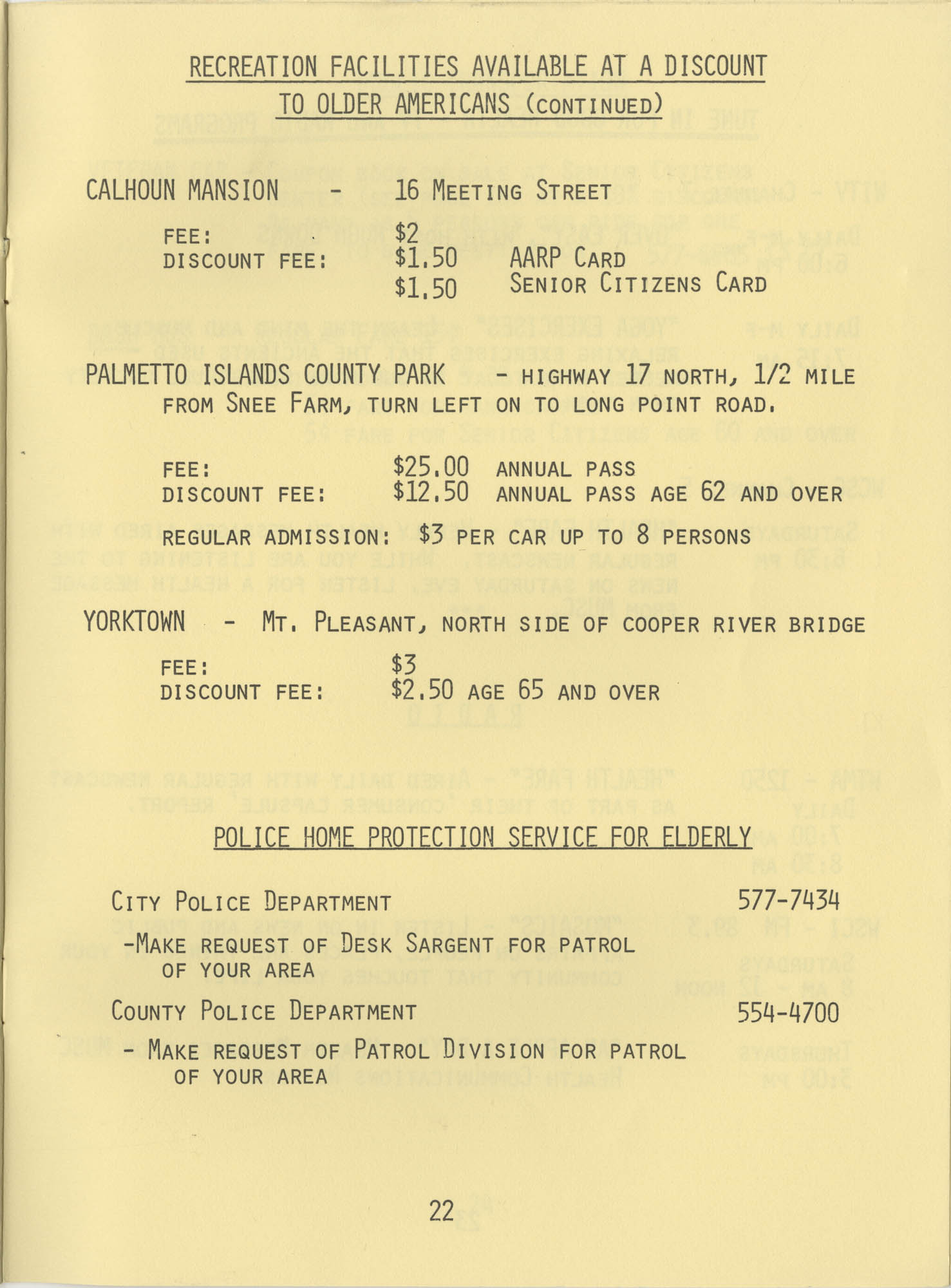 Telephone Line to Care for the Elderly, Page 22
