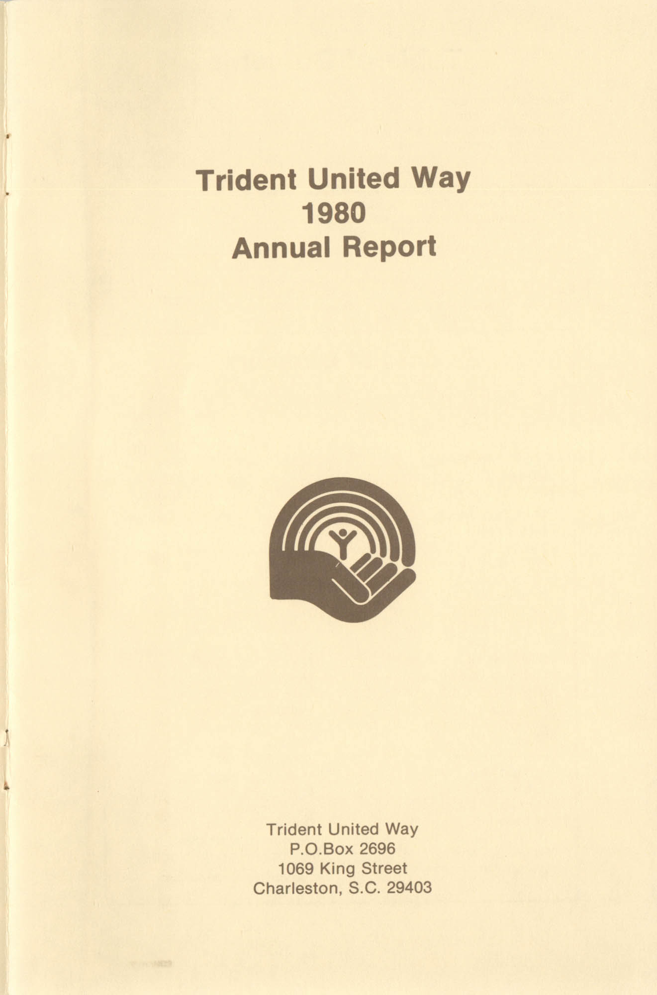 Trident United Way Annual Report, 1980, Title Page