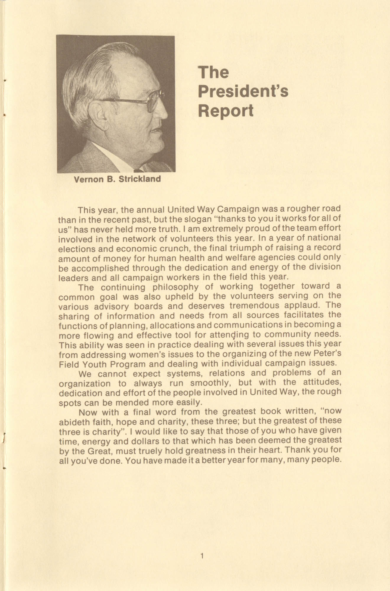 Trident United Way Annual Report, 1980, Page 1