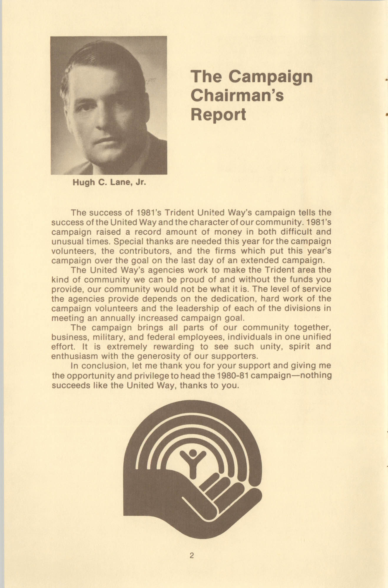 Trident United Way Annual Report, 1980, Page 2
