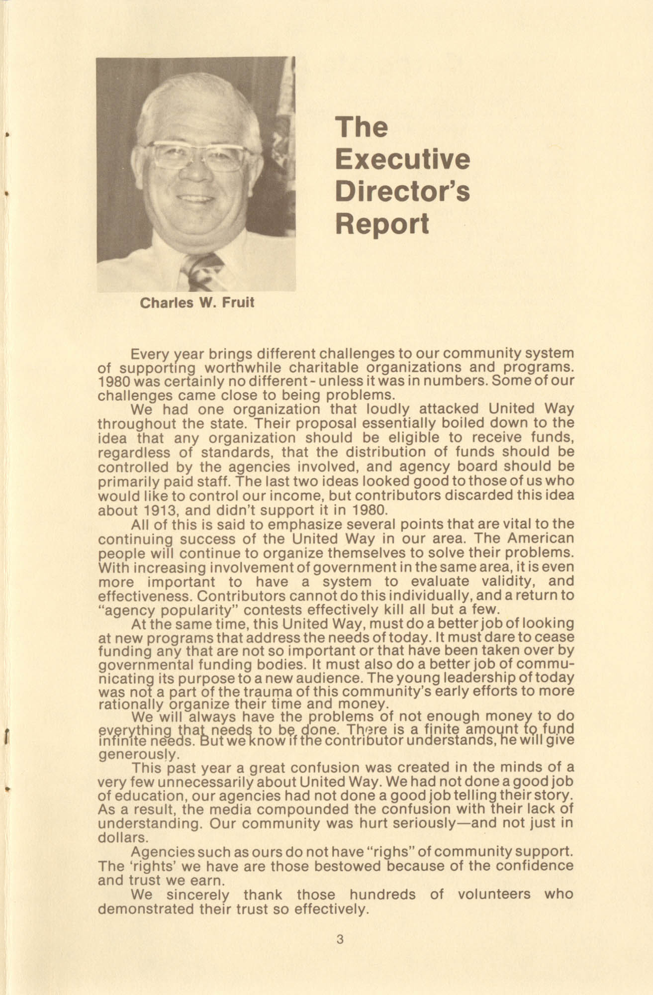 Trident United Way Annual Report, 1980, Page 3