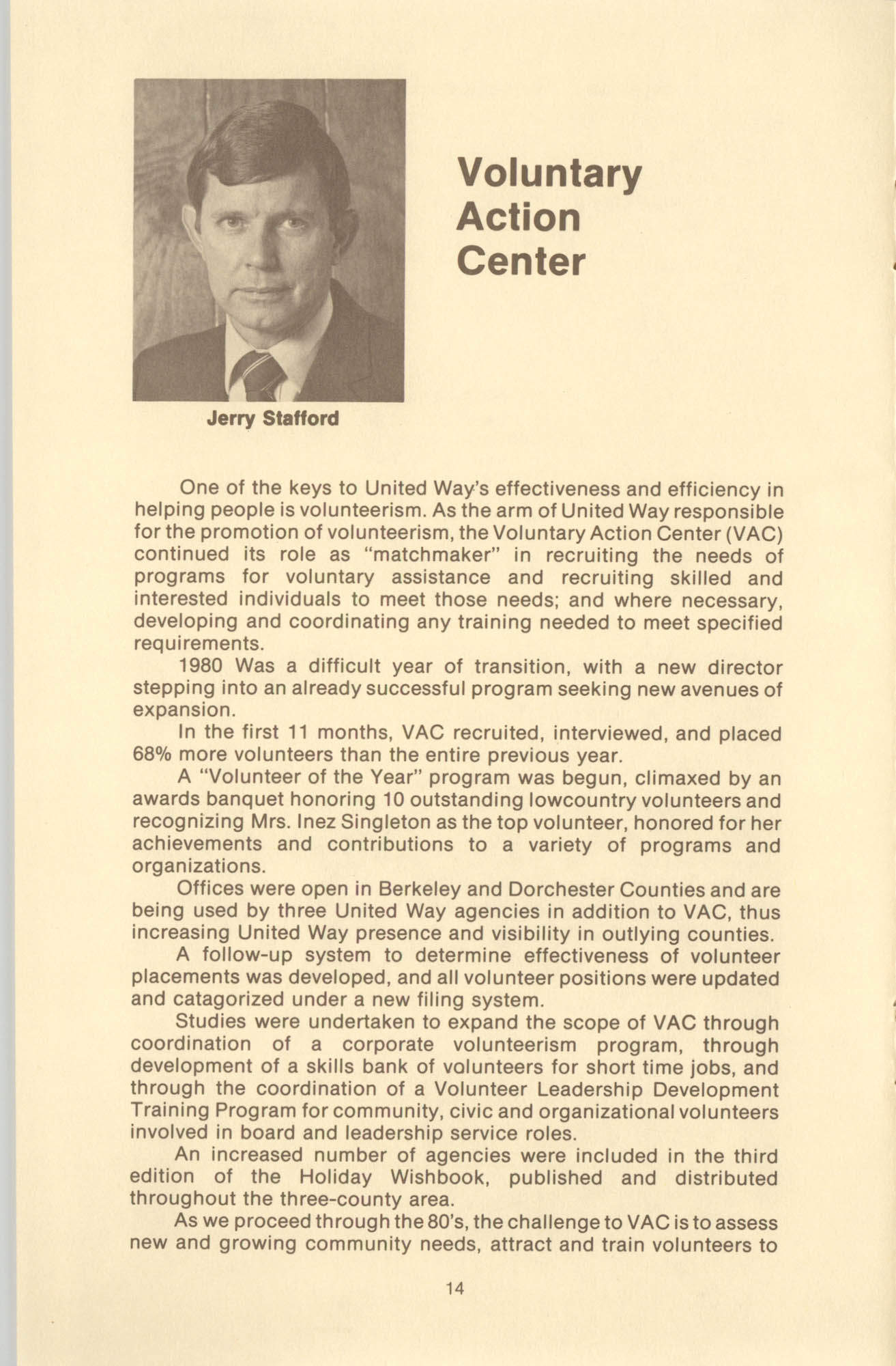 Trident United Way Annual Report, 1980, Page 14