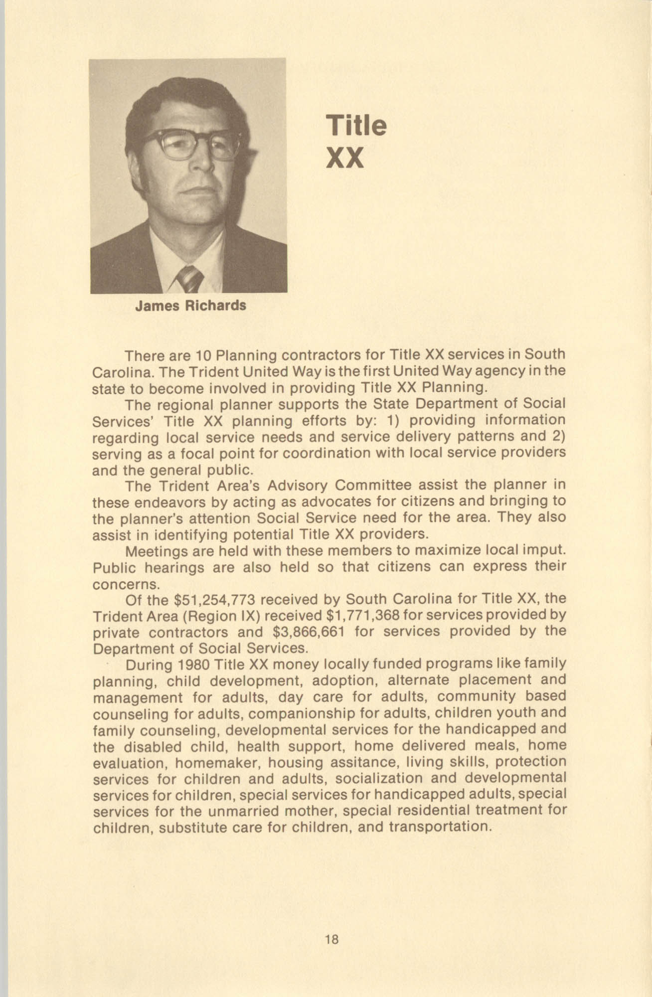 Trident United Way Annual Report, 1980, Page 18