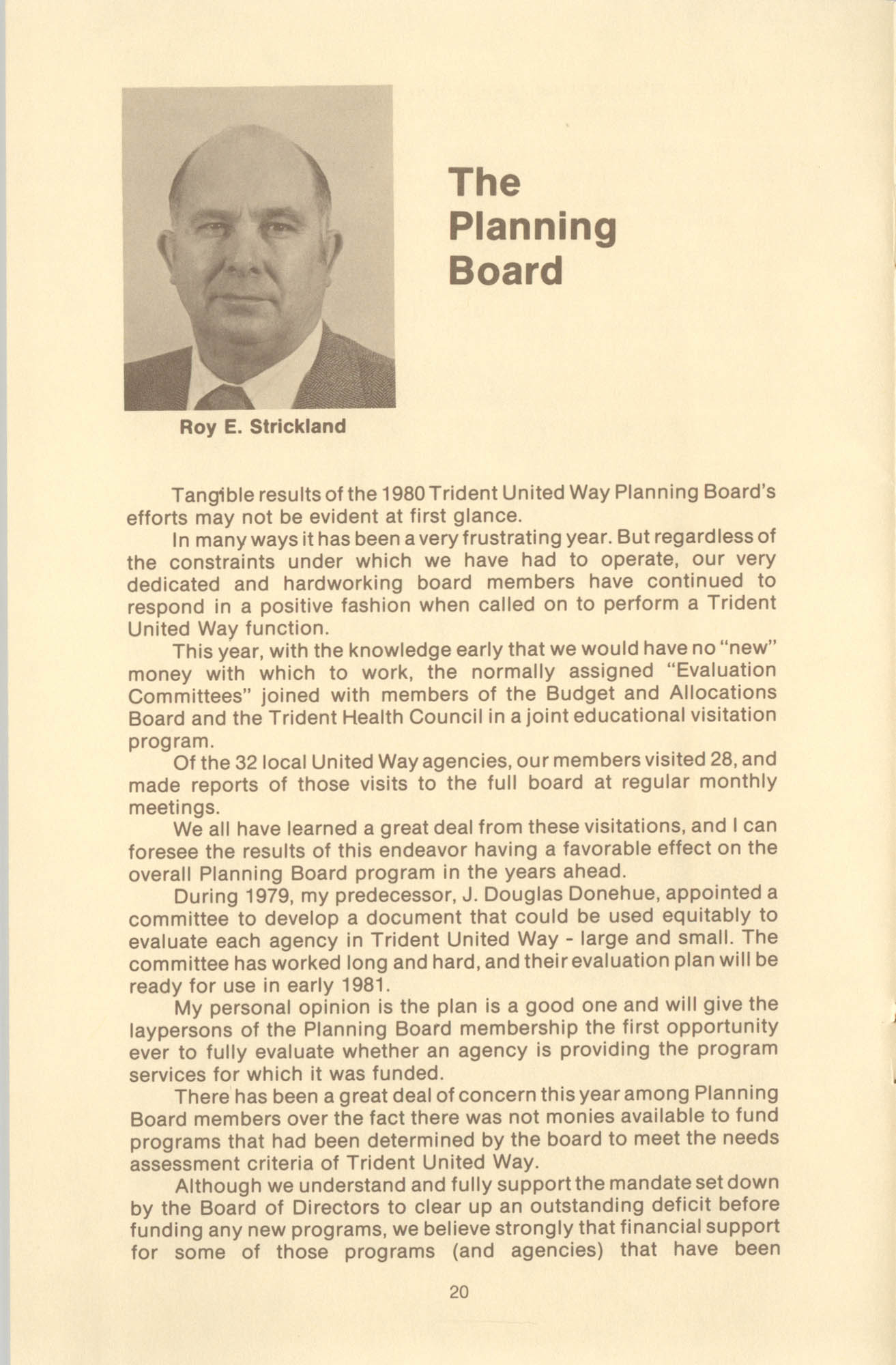 Trident United Way Annual Report, 1980, Page 20