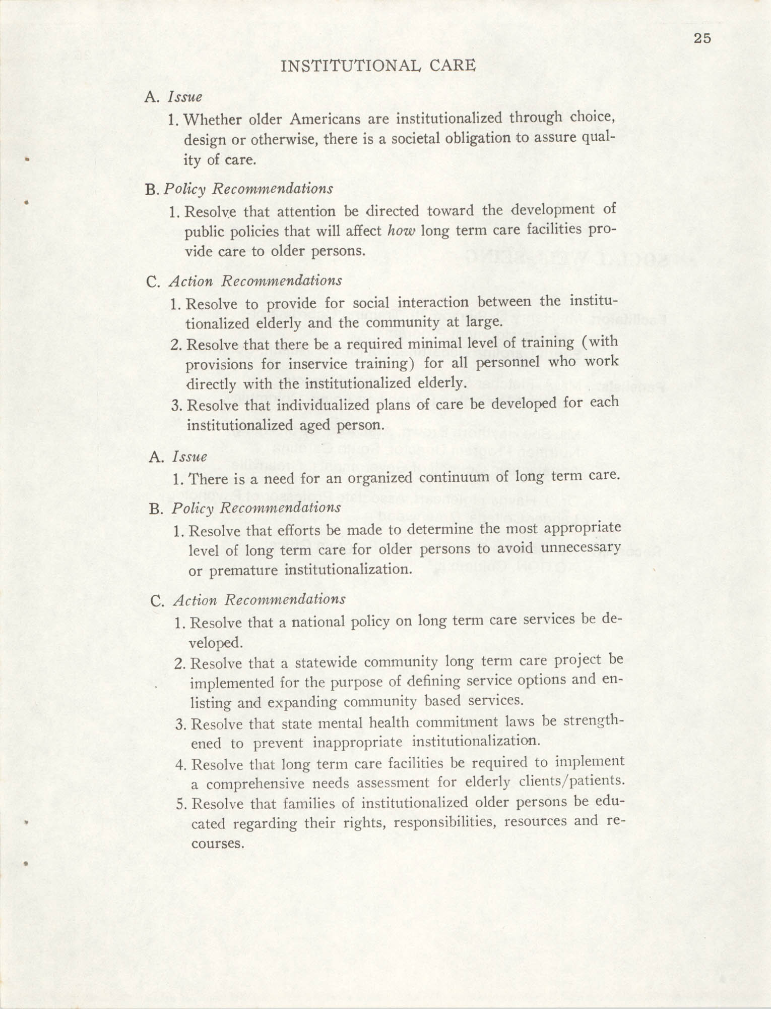 South Carolina Governor's White House Conference on Aging Proceedings, 1981, Page 25