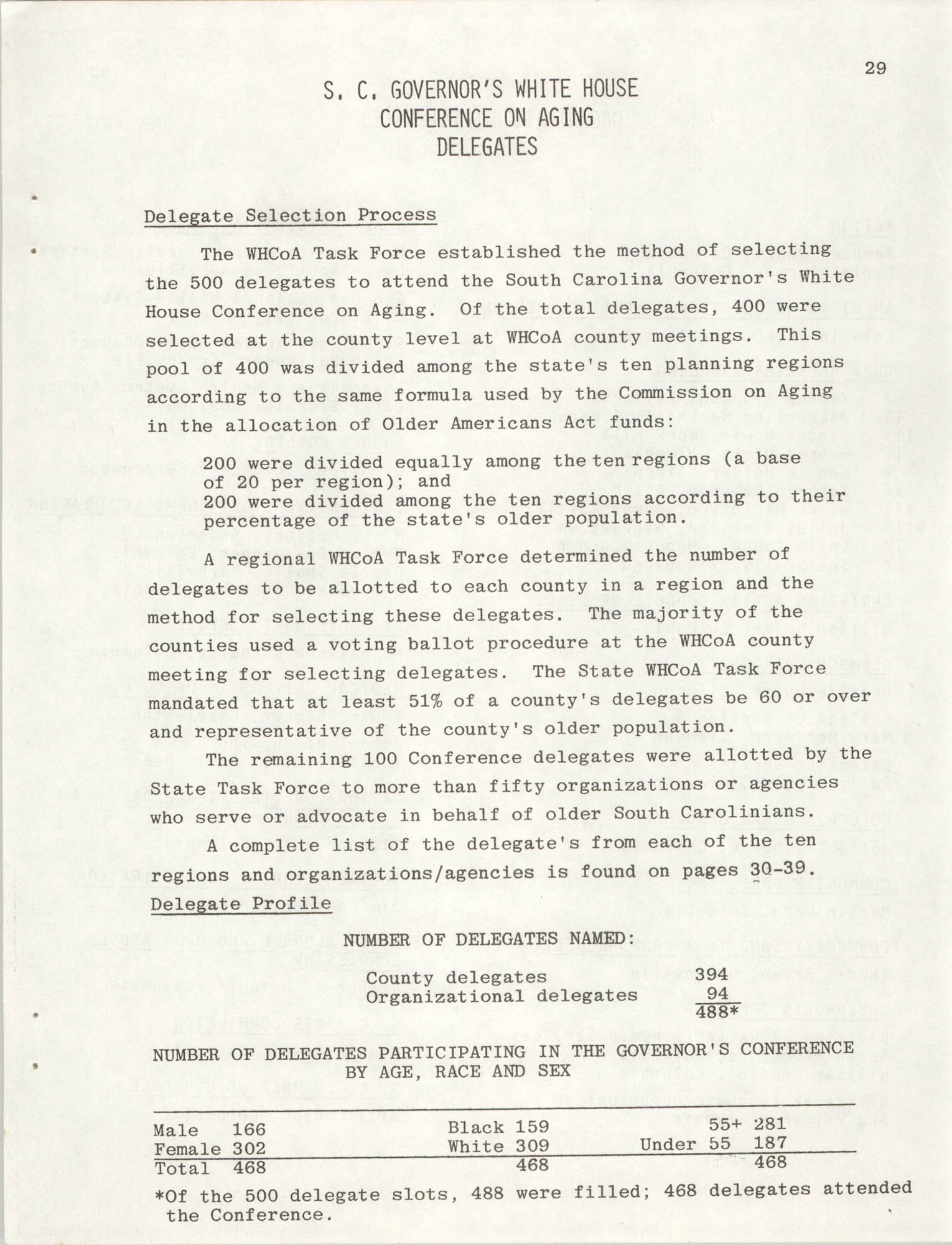 South Carolina Governor's White House Conference on Aging Proceedings, 1981, Page 29