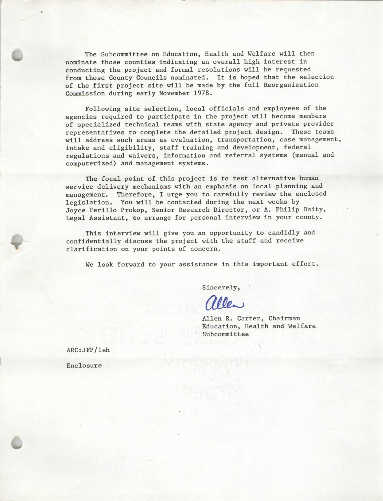 Letter from Allen R. Carter to William Saunders, September 7, 1978, Page 2