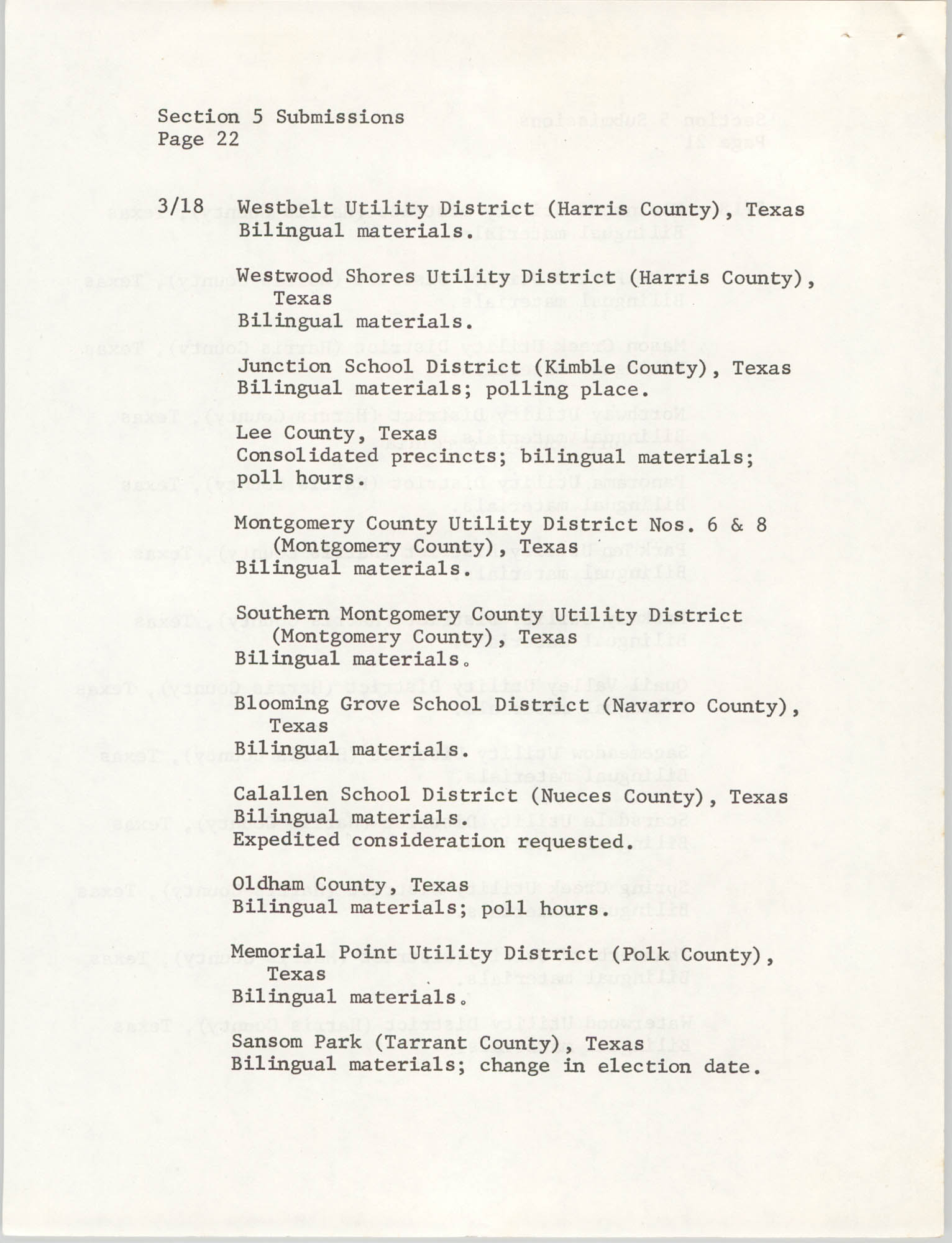 United States Department of Justice Notice, March 26, 1976, Page 22