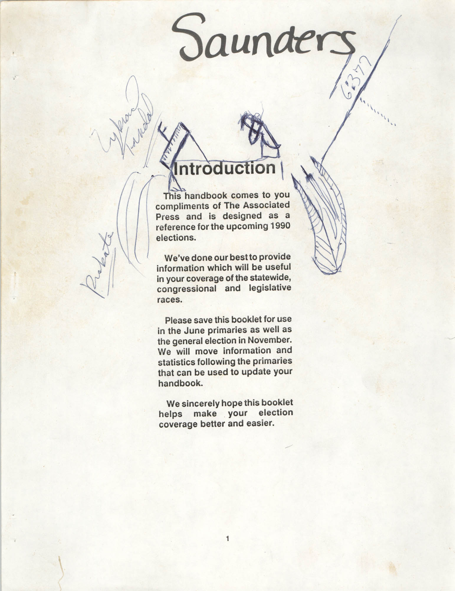 1990 Elections Handbook, Introduction
