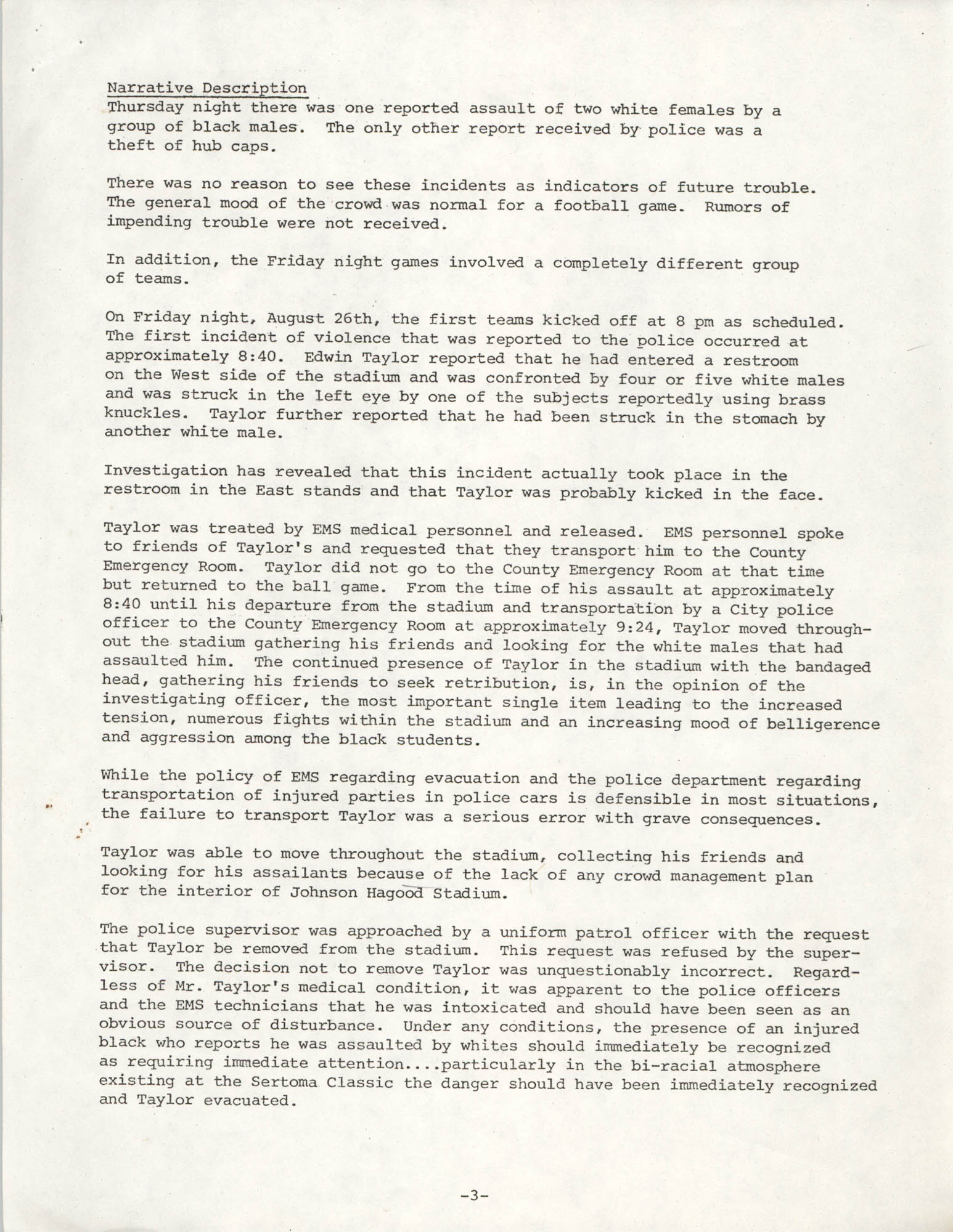 City of Charleston South Carolina Police Department Memorandum, September 6, 1977, Page 3