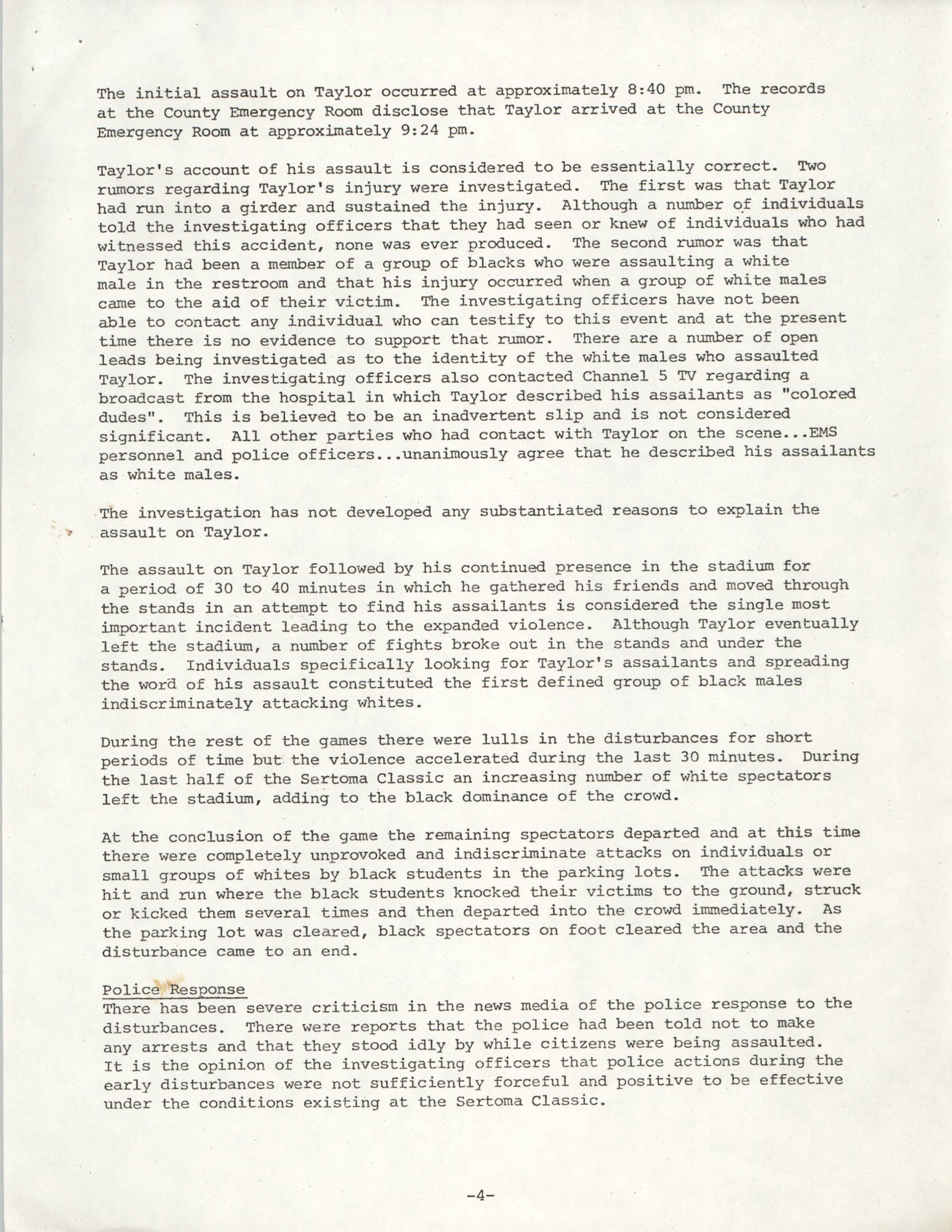 City of Charleston South Carolina Police Department Memorandum, September 6, 1977, Page 4