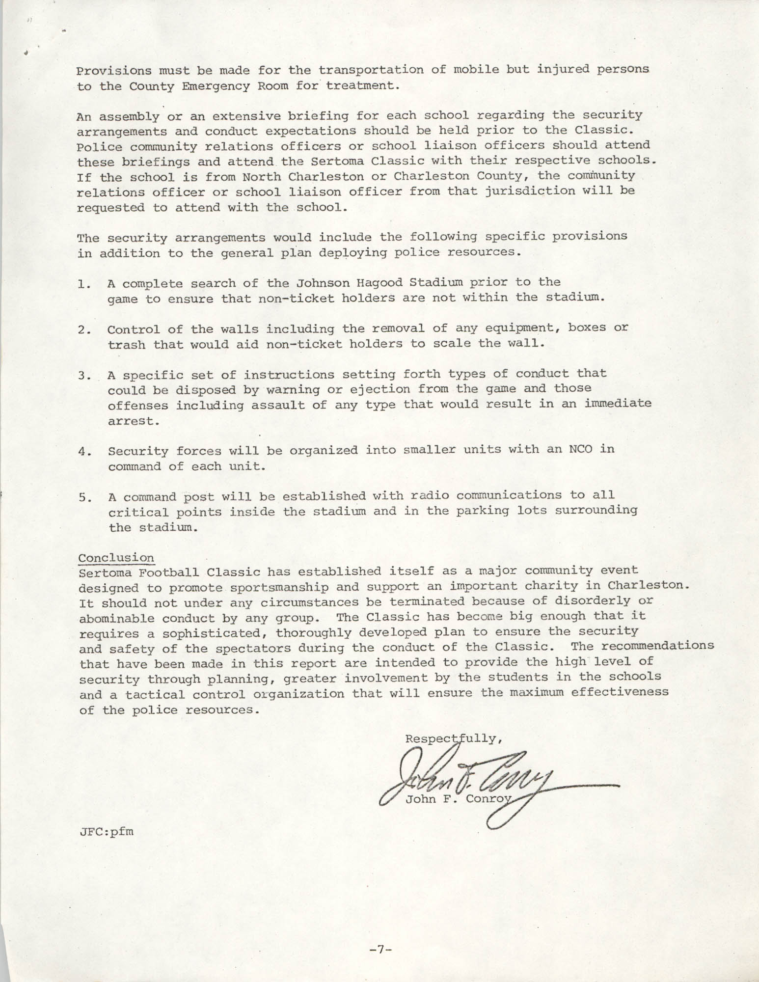 City of Charleston South Carolina Police Department Memorandum, September 6, 1977, Page 7