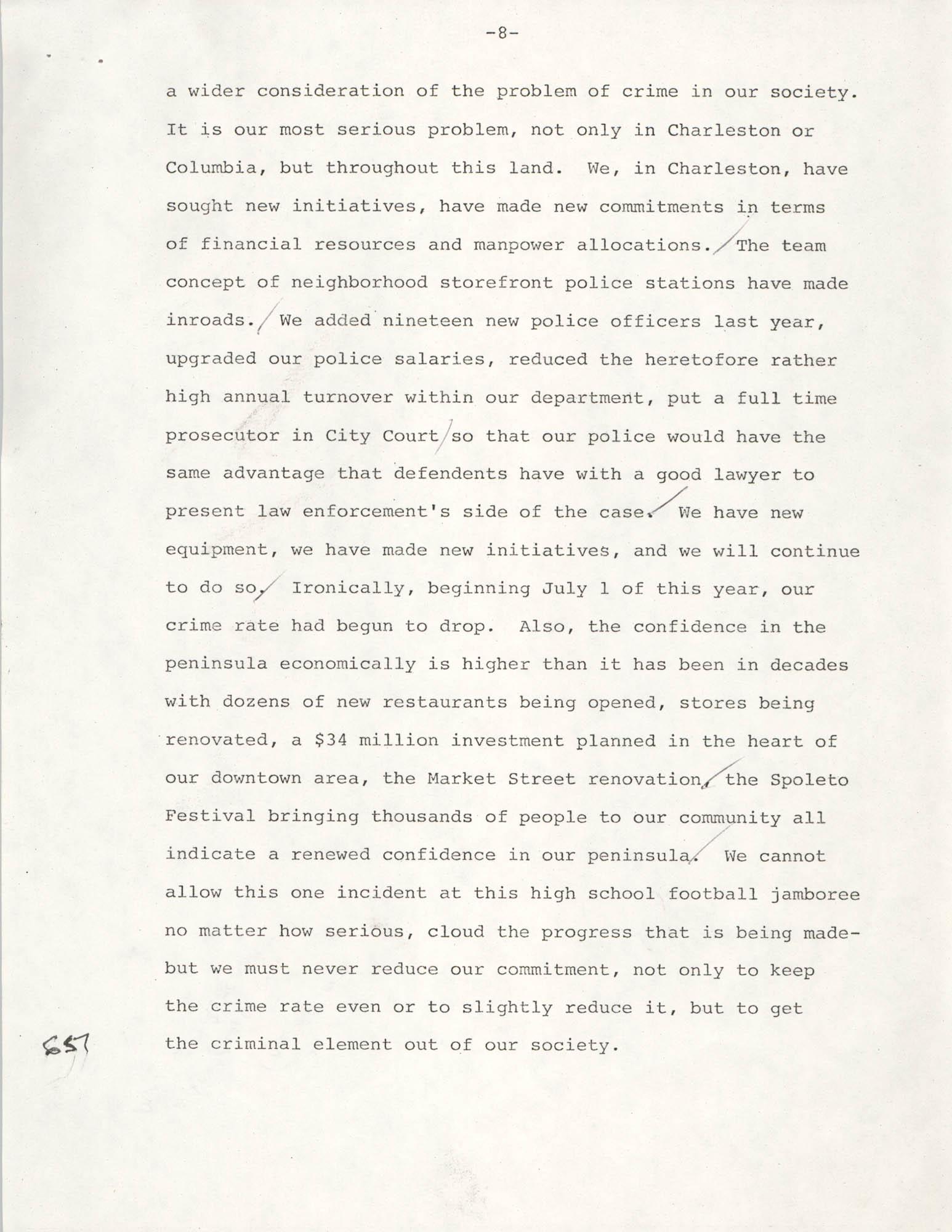 Typescript Speech on the Sertoma Football Classic, Page 8