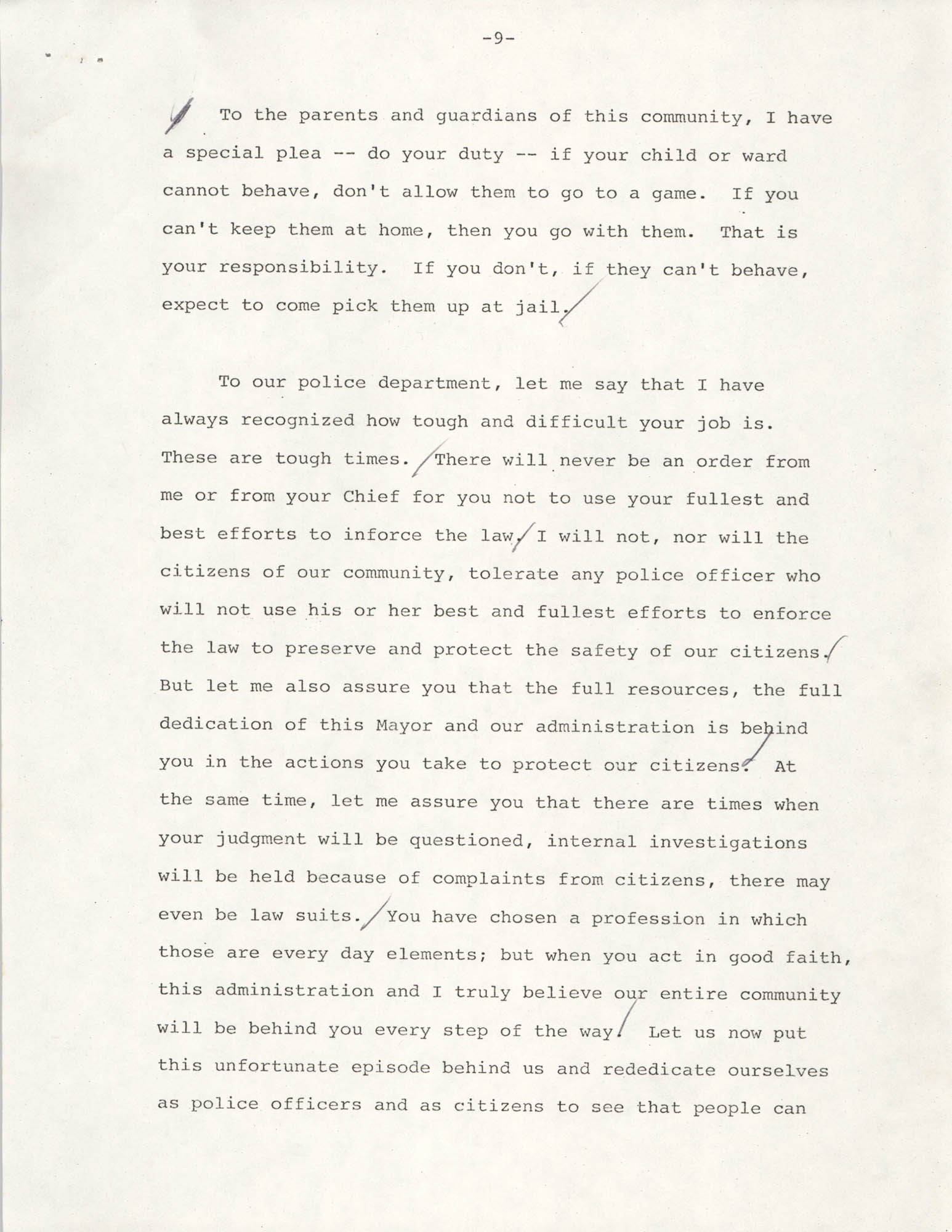 Typescript Speech on the Sertoma Football Classic, Page 9