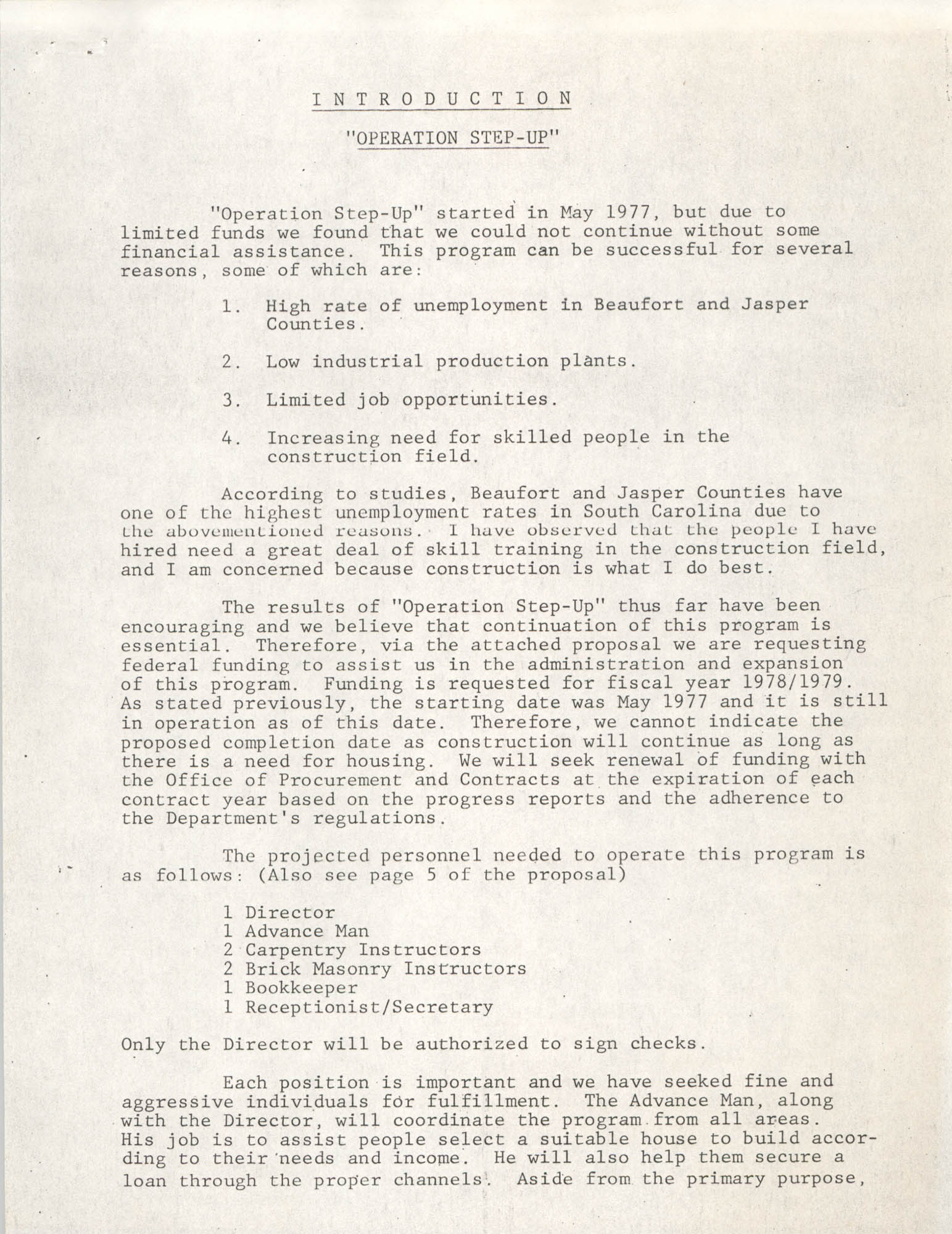 Operation Step-up, Introduction, Page 1