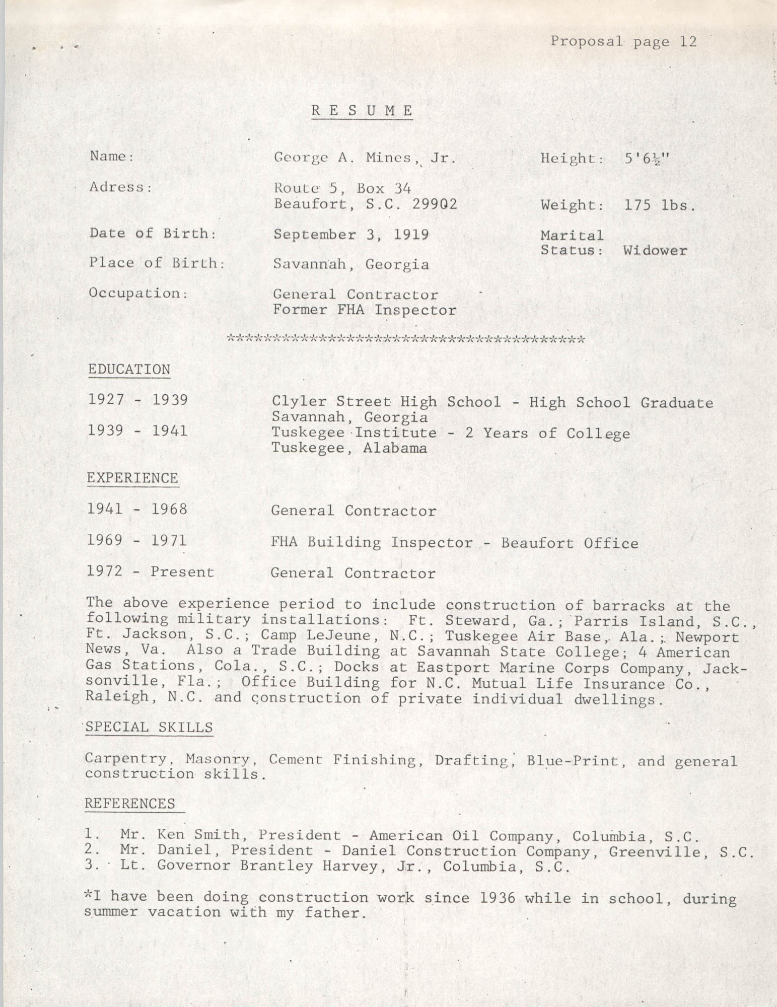 Operation Step-up, Proposal, Page 12