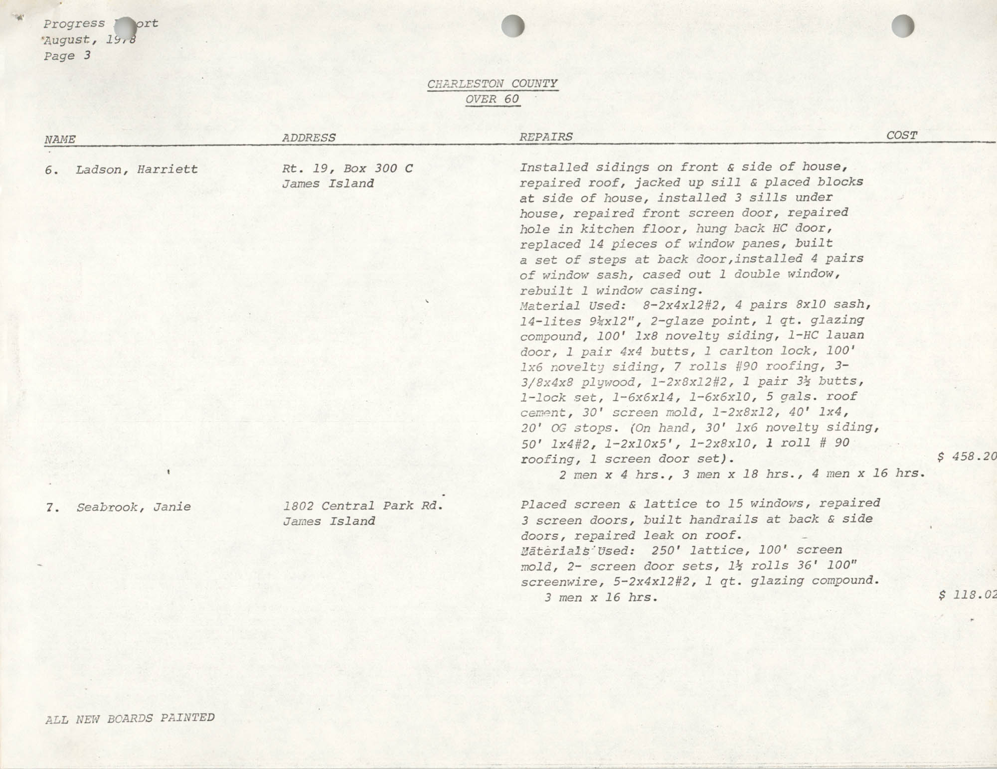 Housing Assistance Program Report, August 1978, Page 3