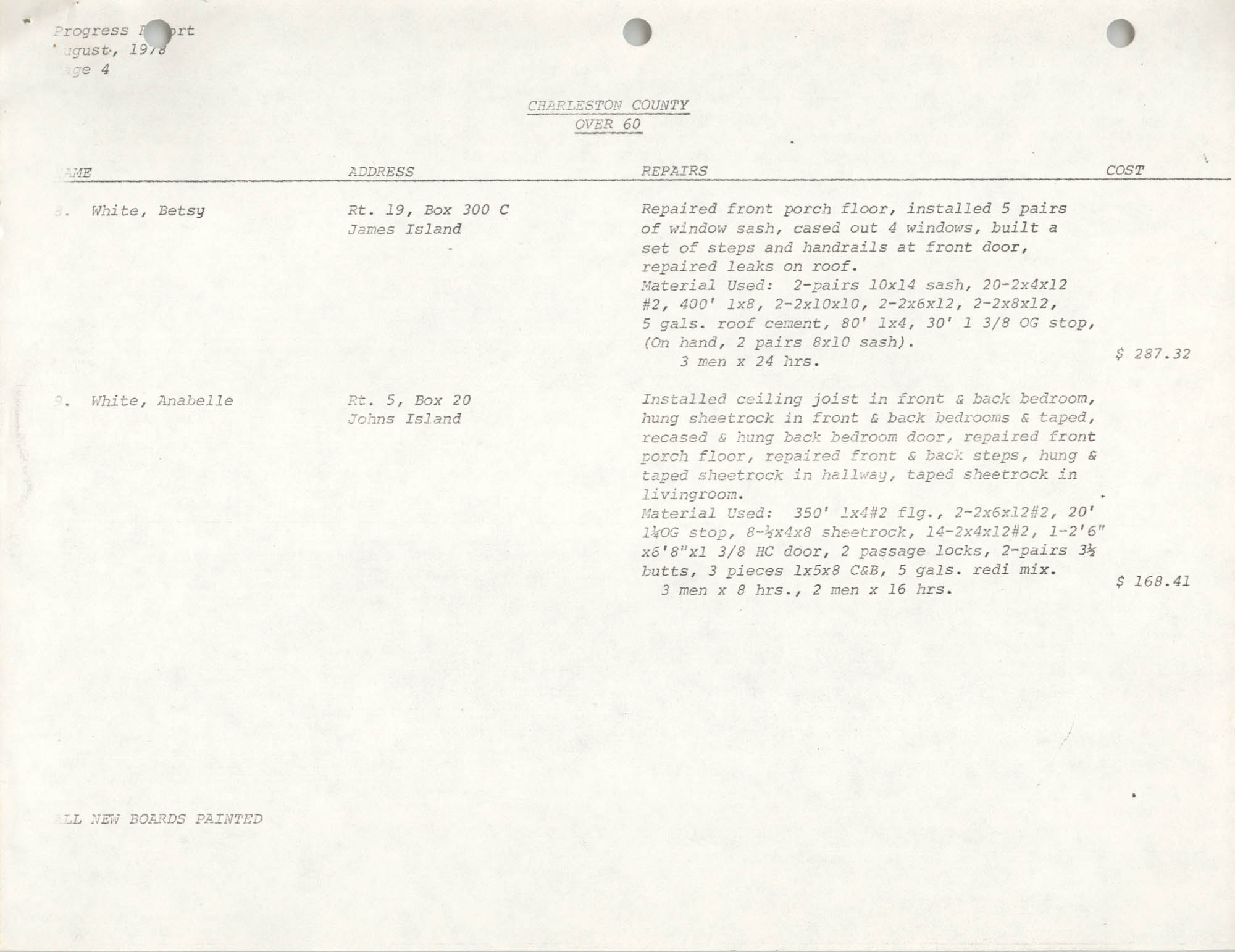 Housing Assistance Program Report, August 1978, Page 4