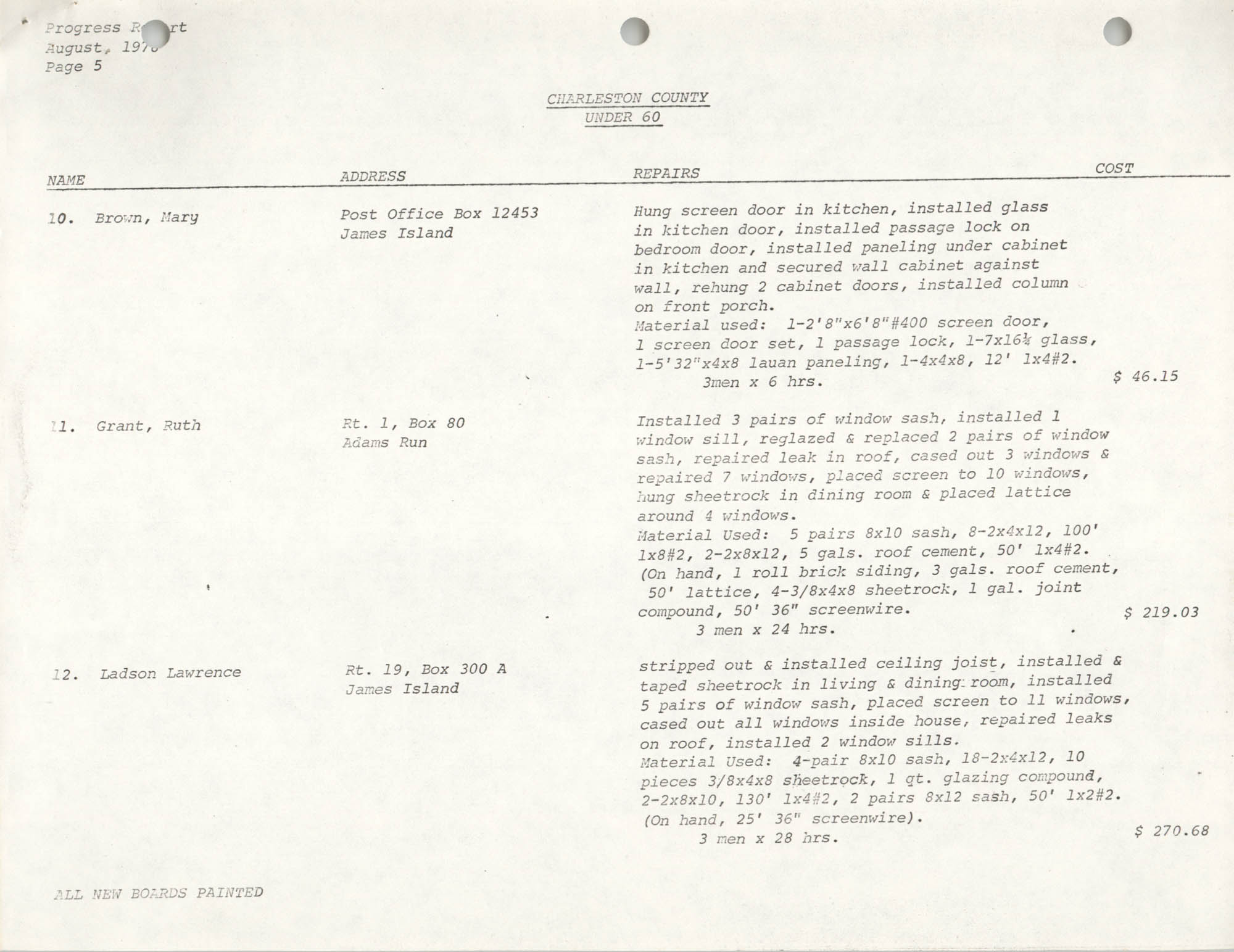 Housing Assistance Program Report, August 1978, Page 5