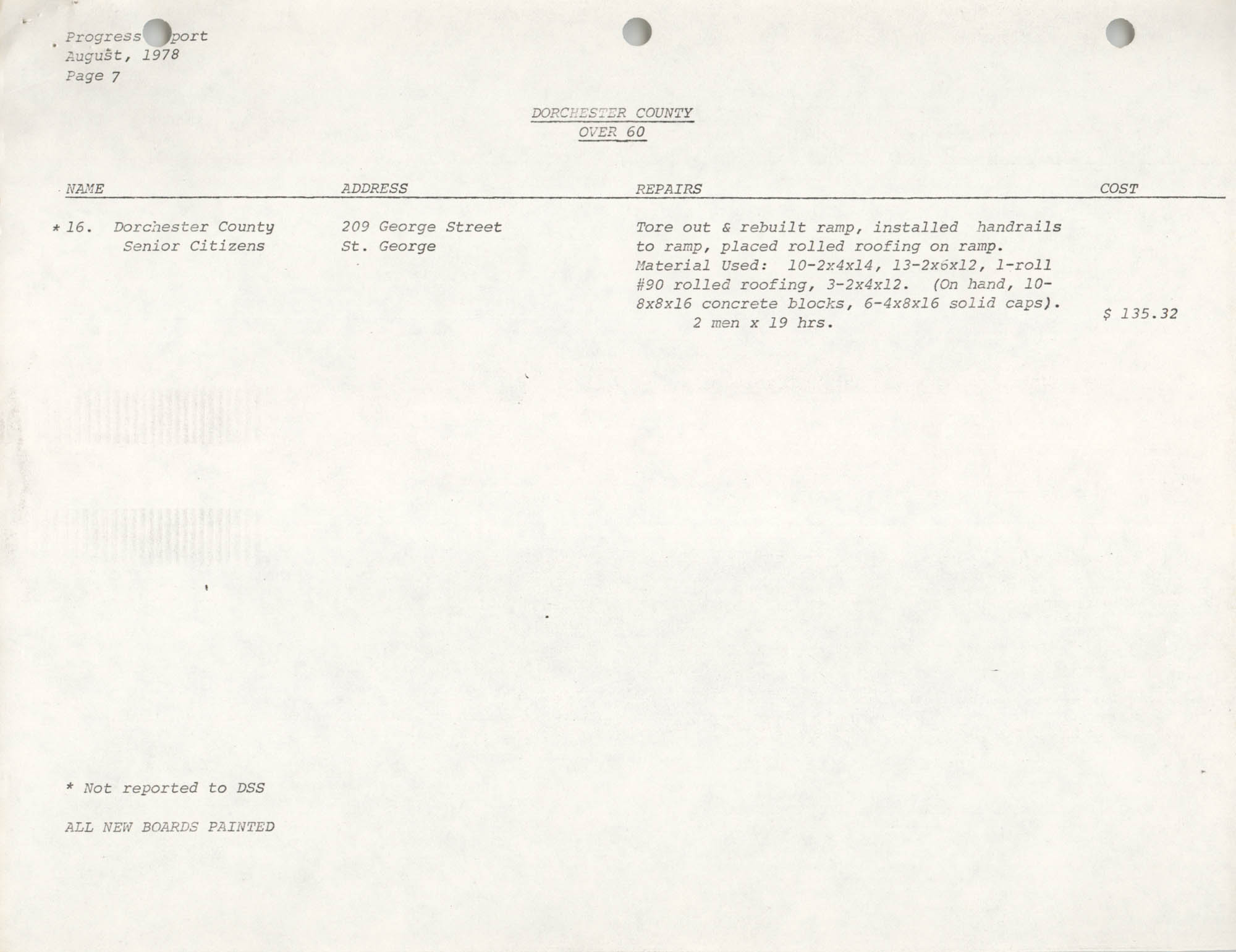 Housing Assistance Program Report, August 1978, Page 7