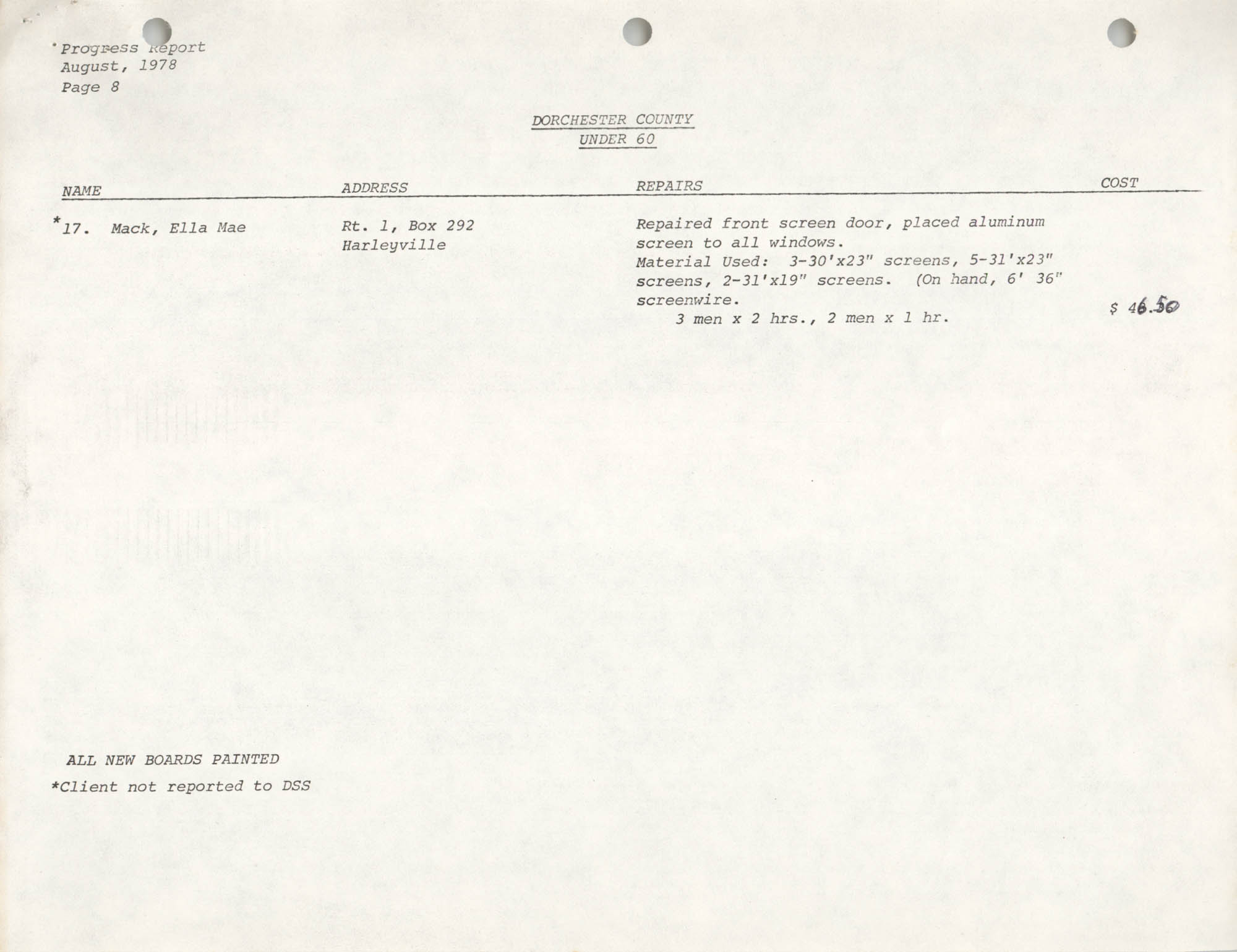 Housing Assistance Program Report, August 1978, Page 8
