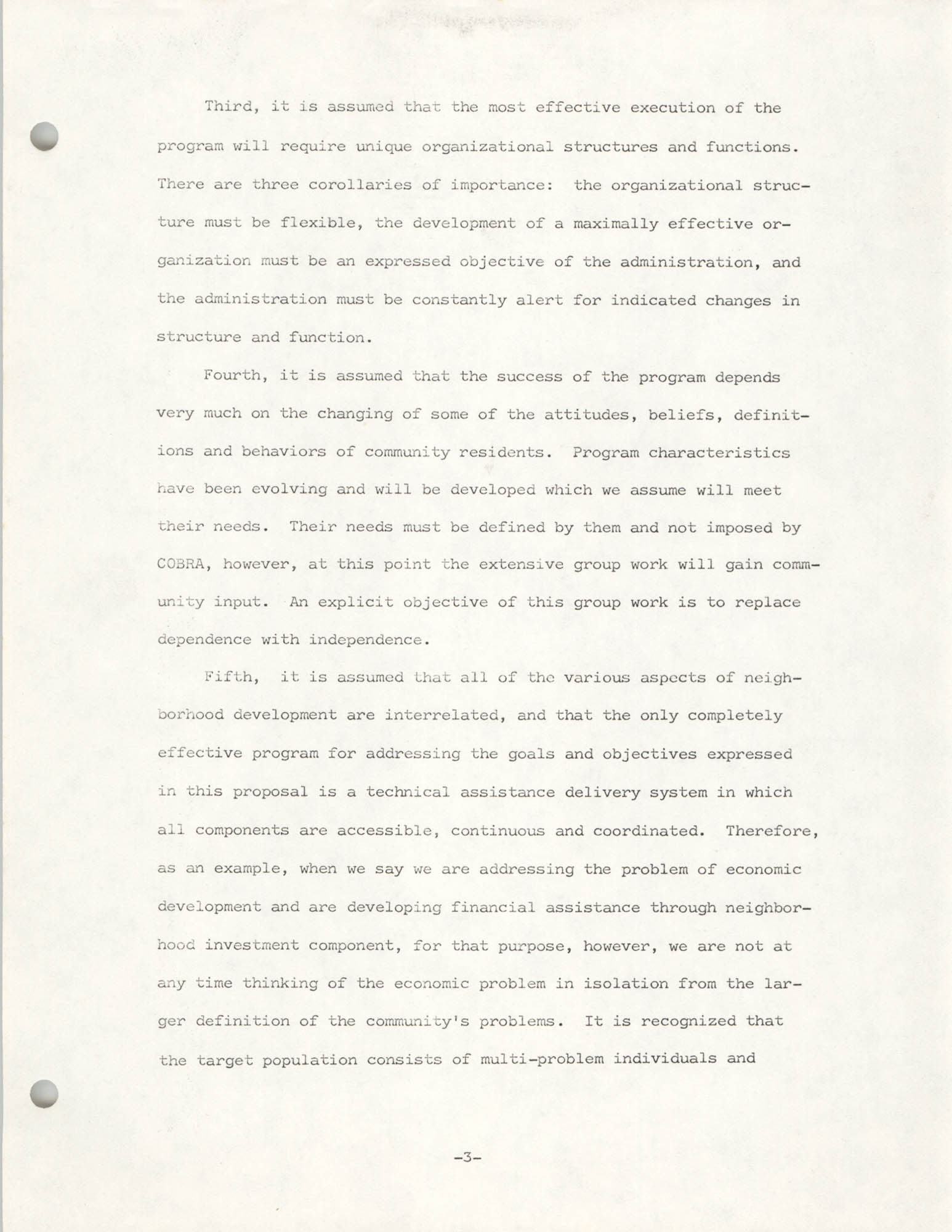 COBRA Philosophy of Technical Assistance, Page 3