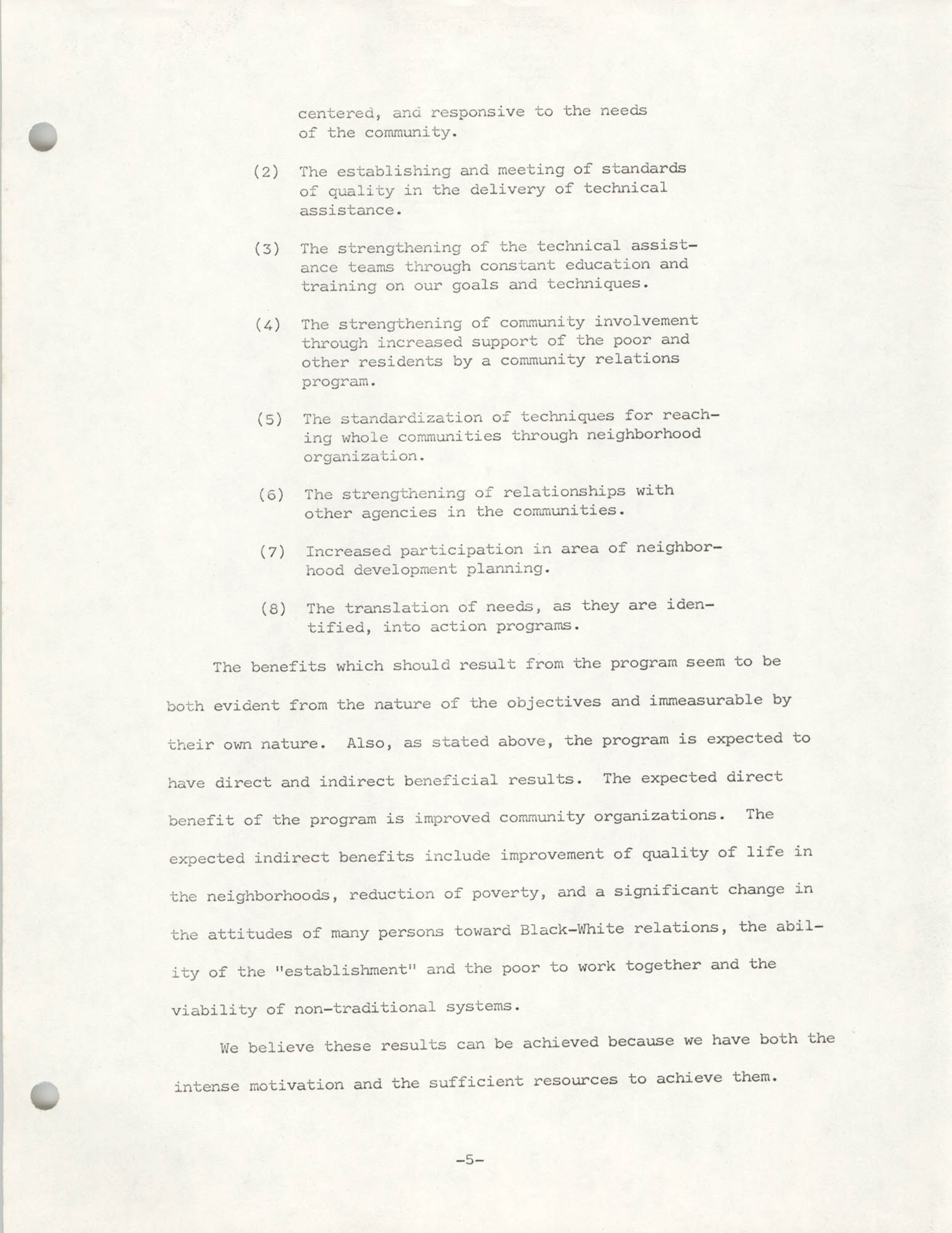 COBRA Philosophy of Technical Assistance, Page 5