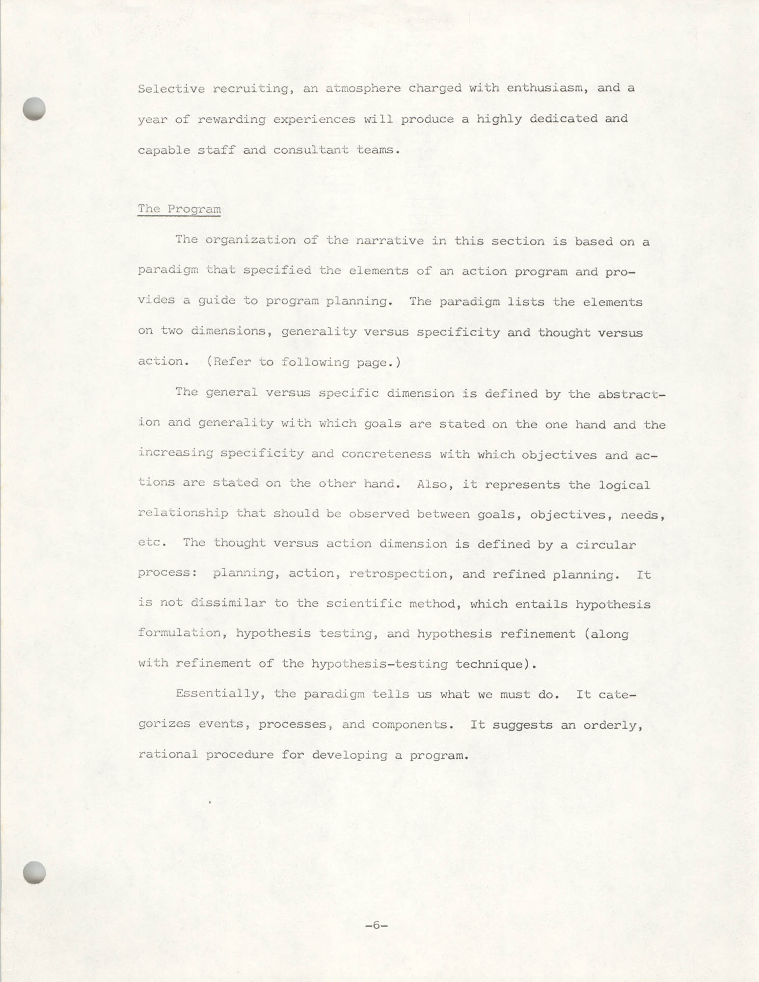 COBRA Philosophy of Technical Assistance, Page 6