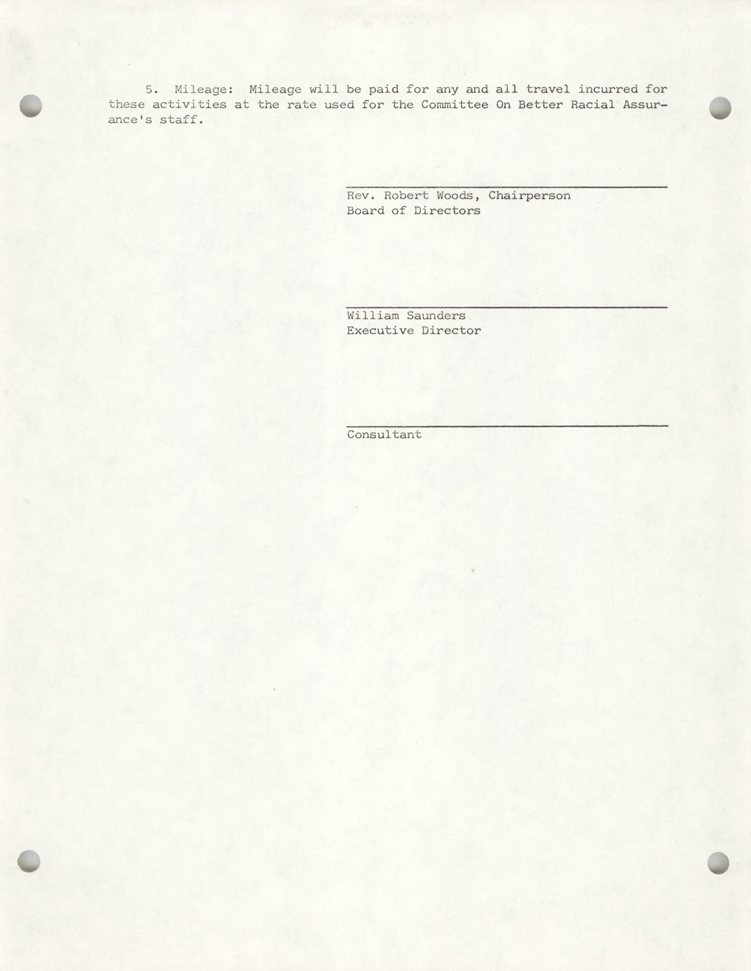 COBRA Letter of Agreement for Professional Assistant Contract, Page 2