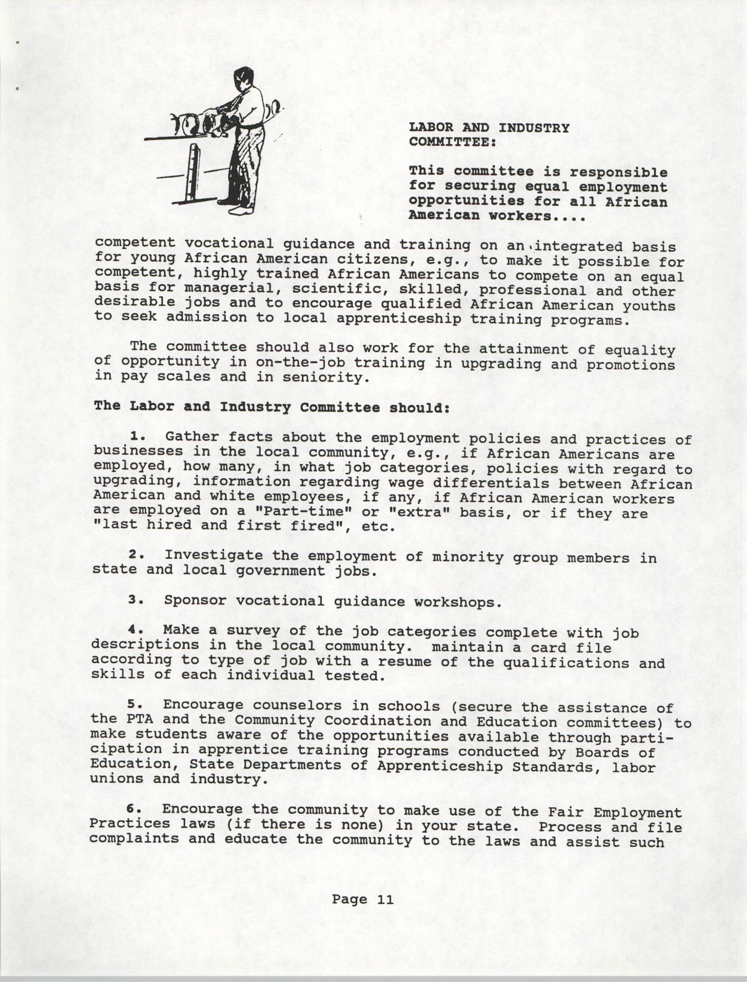 Branch Standing Committees Handbook for the South Carolina Conference of Branches for the NAACP, Page 11