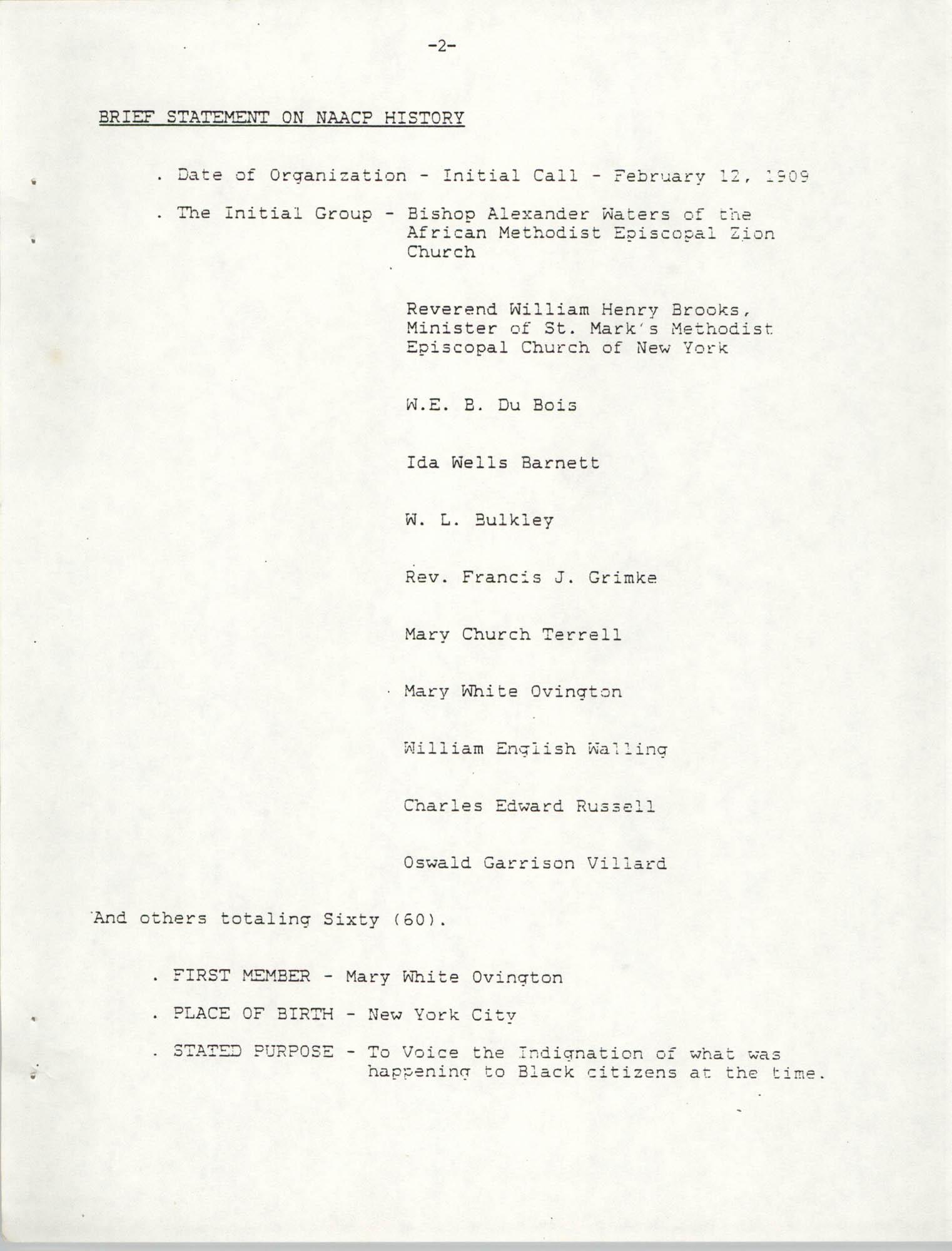 NAACP Mandatory Training Handbook, 1989, Page 2