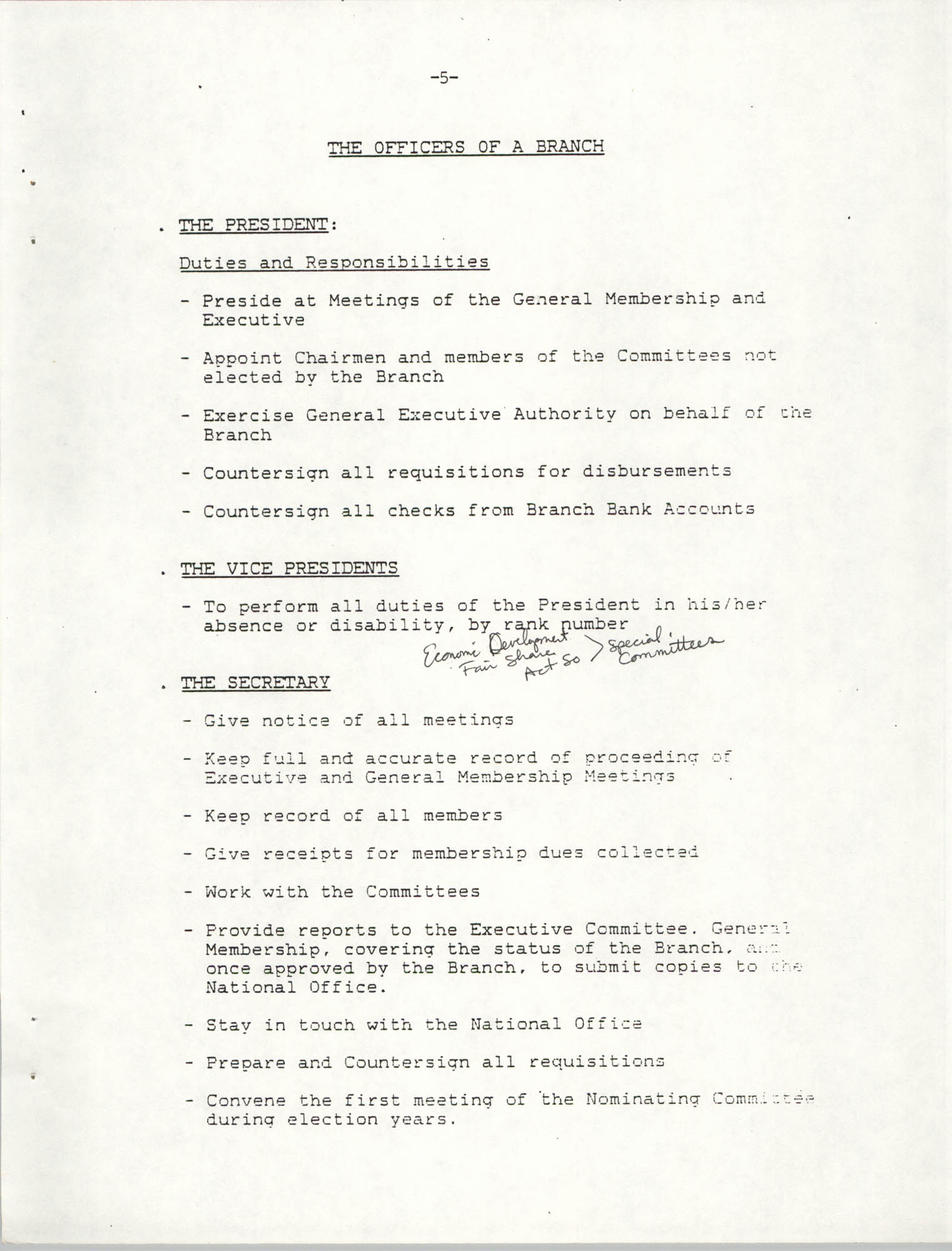 NAACP Mandatory Training Handbook, 1989, Page 5
