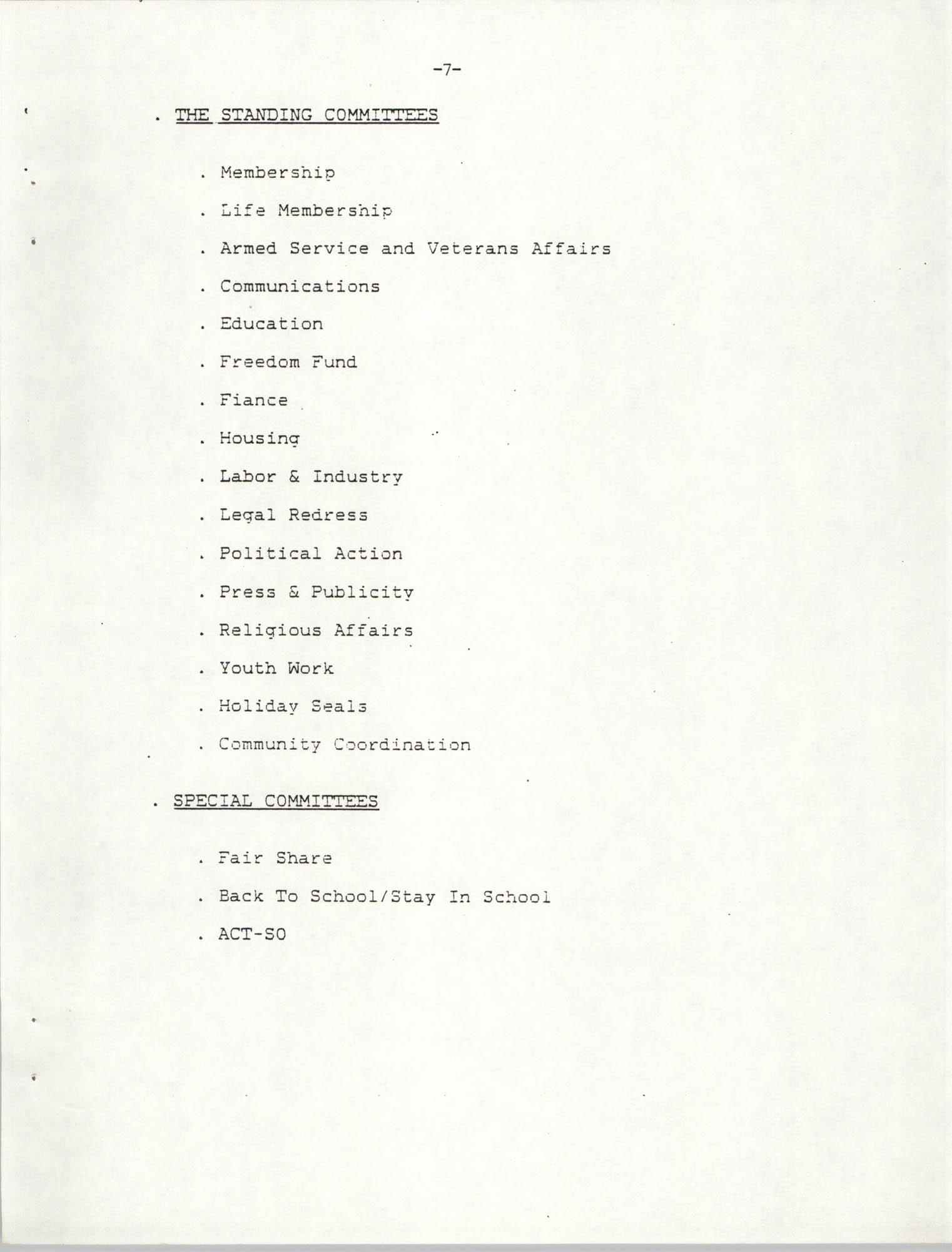 NAACP Mandatory Training Handbook, 1989, Page 7