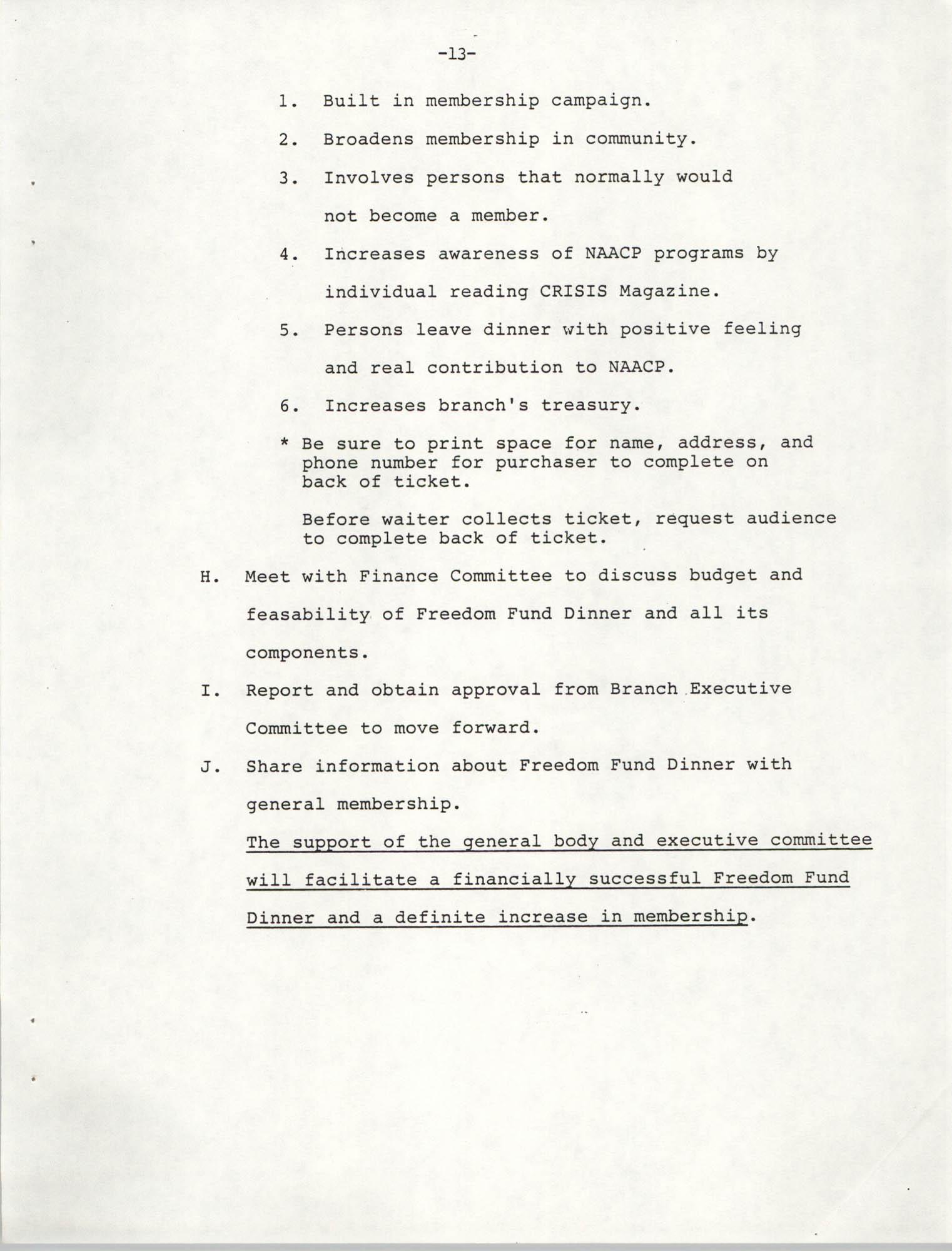 NAACP Mandatory Training Handbook, 1989, Page 13
