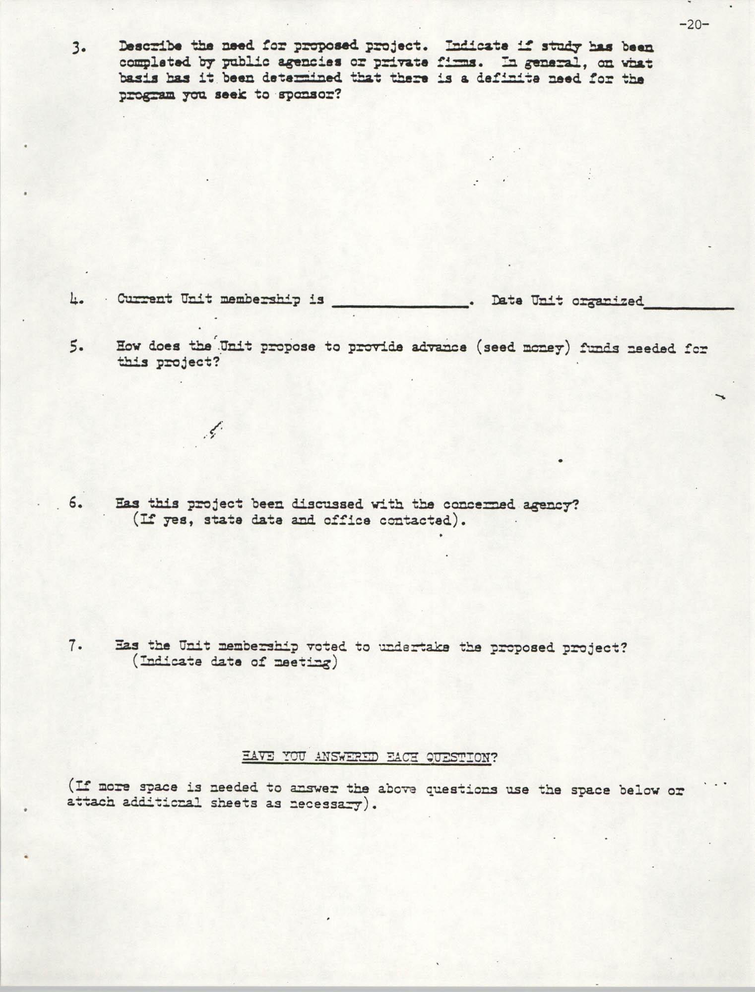 NAACP Mandatory Training Handbook, 1989, Page 20