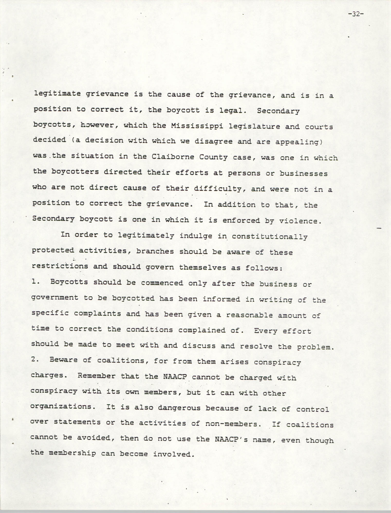 NAACP Mandatory Training Handbook, 1989, Page 32