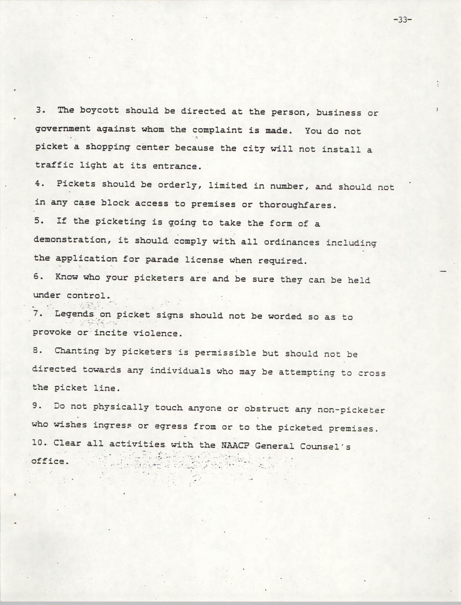 NAACP Mandatory Training Handbook, 1989, Page 33