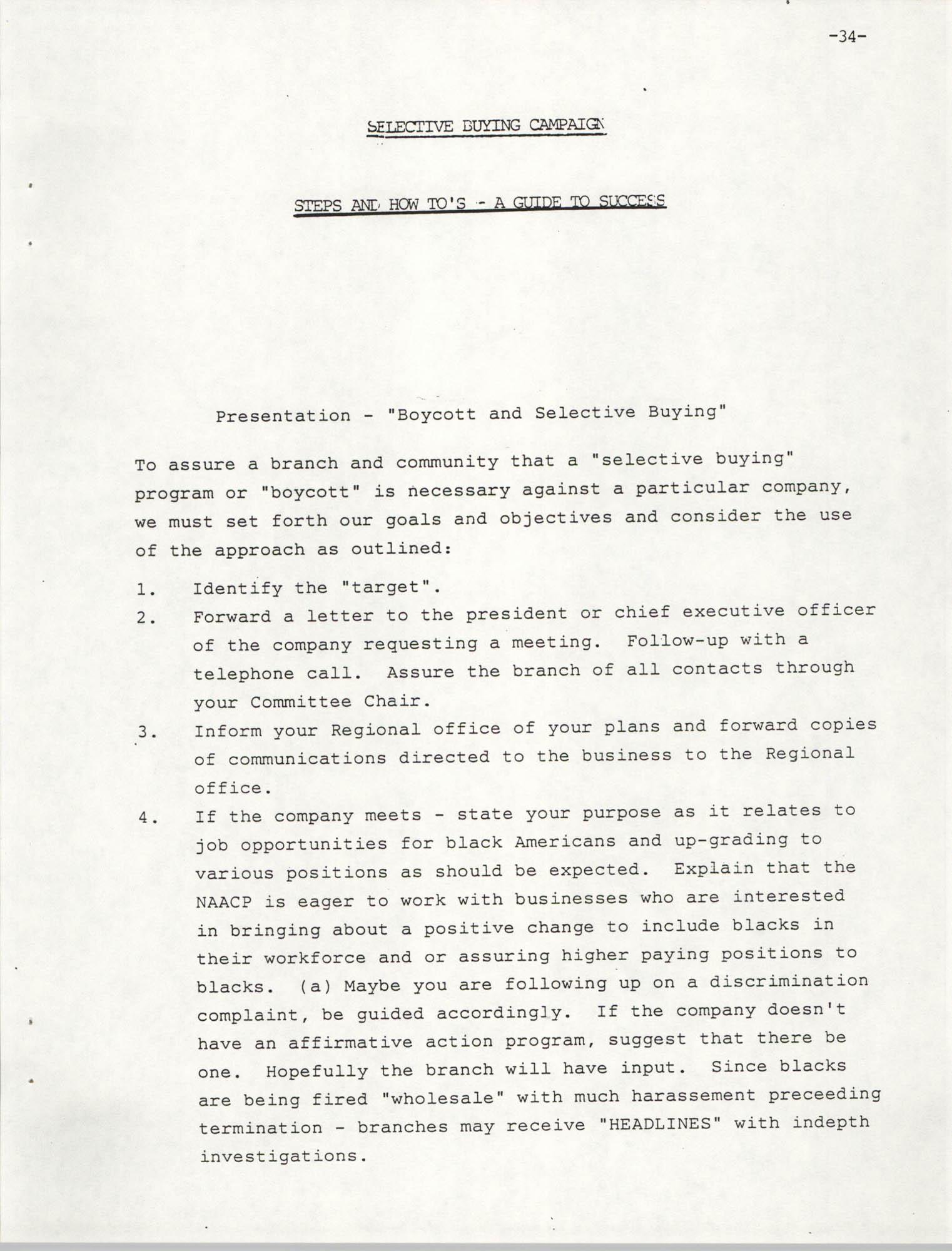 NAACP Mandatory Training Handbook, 1989, Page 34