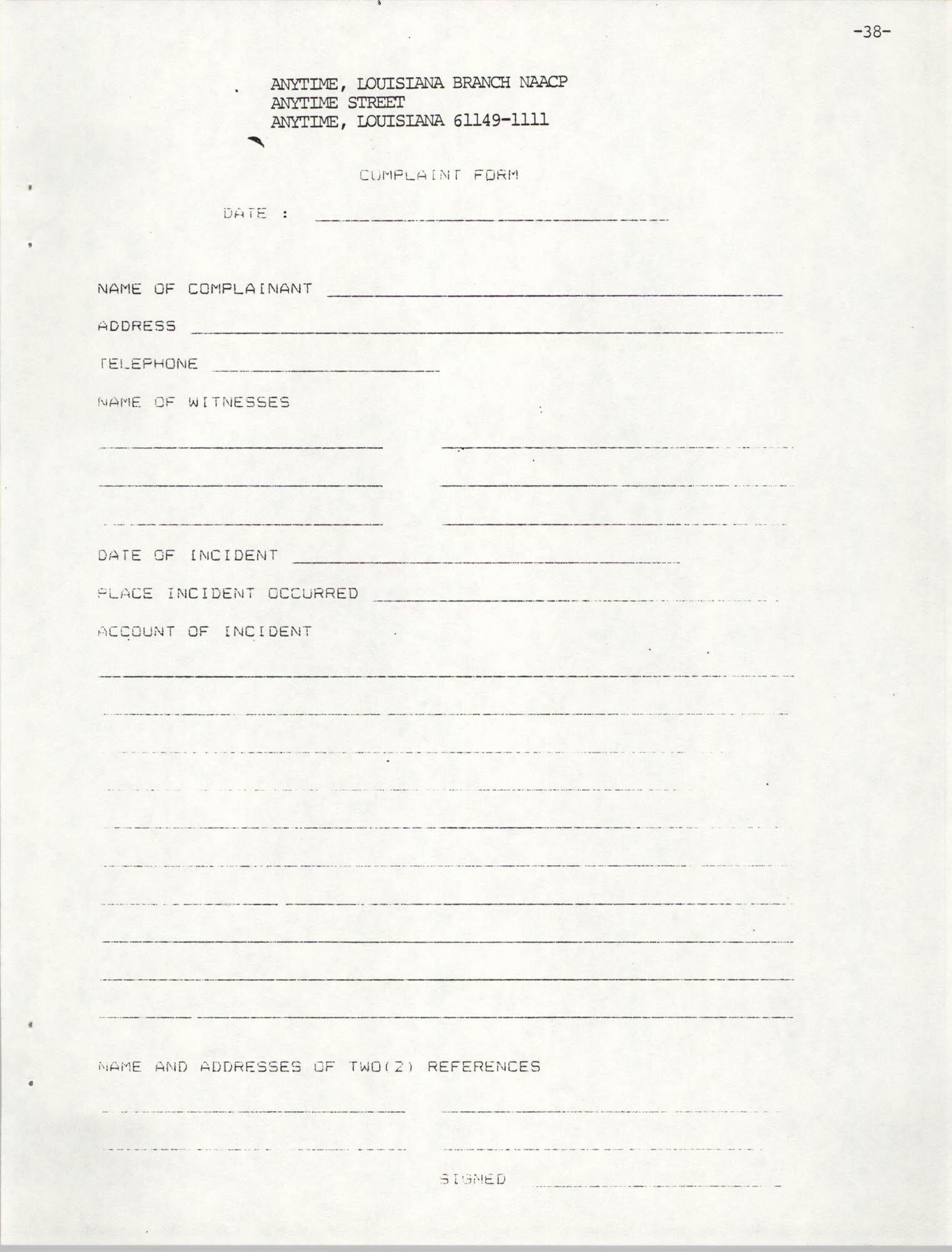 NAACP Mandatory Training Handbook, 1989, Page 38