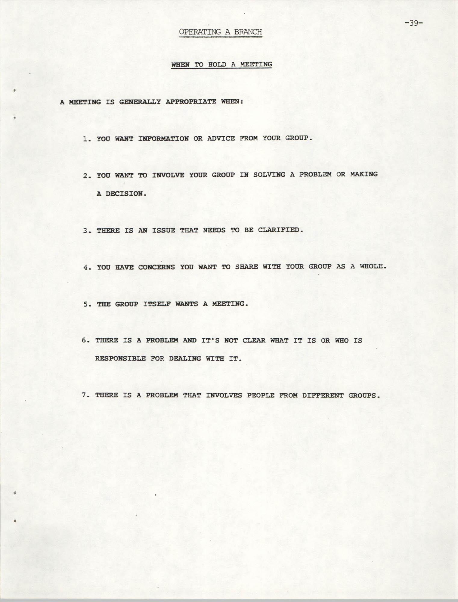 NAACP Mandatory Training Handbook, 1989, Page 39