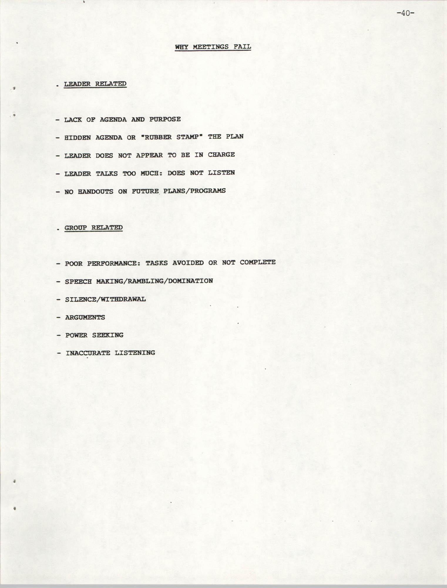 NAACP Mandatory Training Handbook, 1989, Page 40
